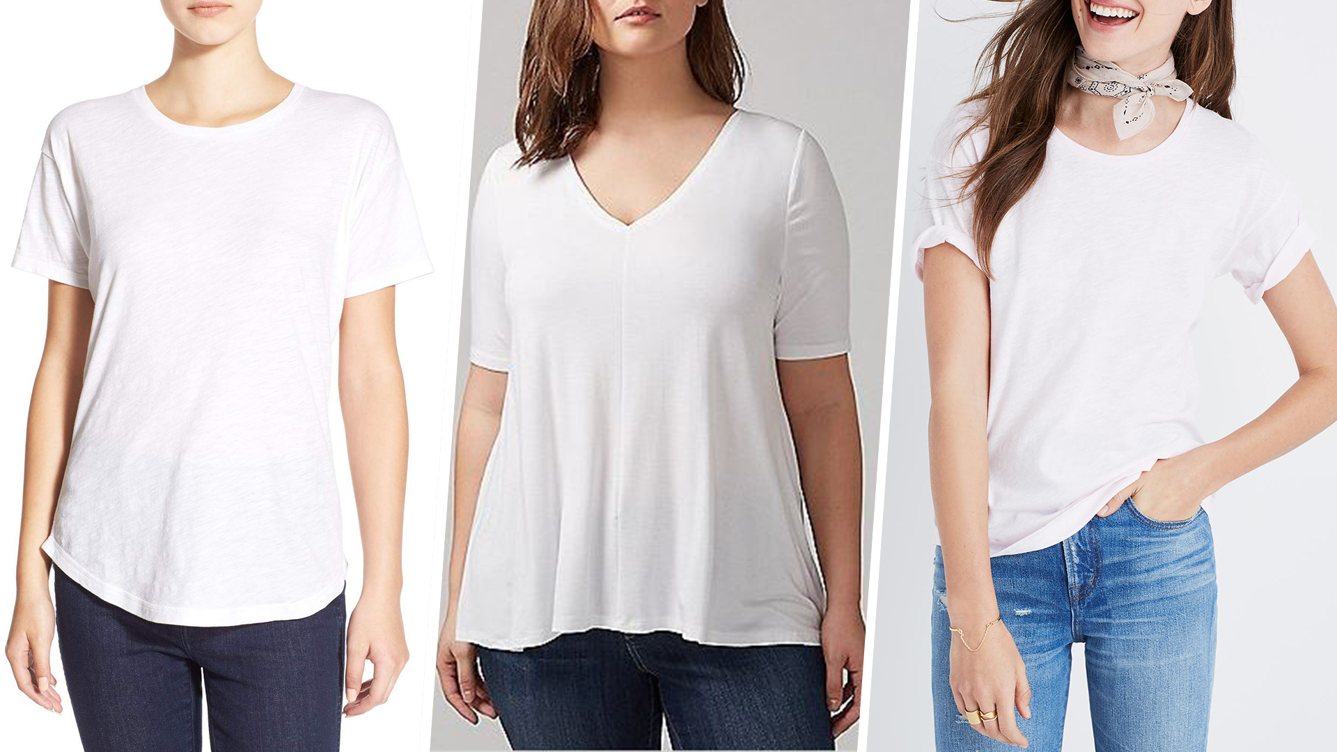 e73dd3db The best white T-shirts for women by outfit