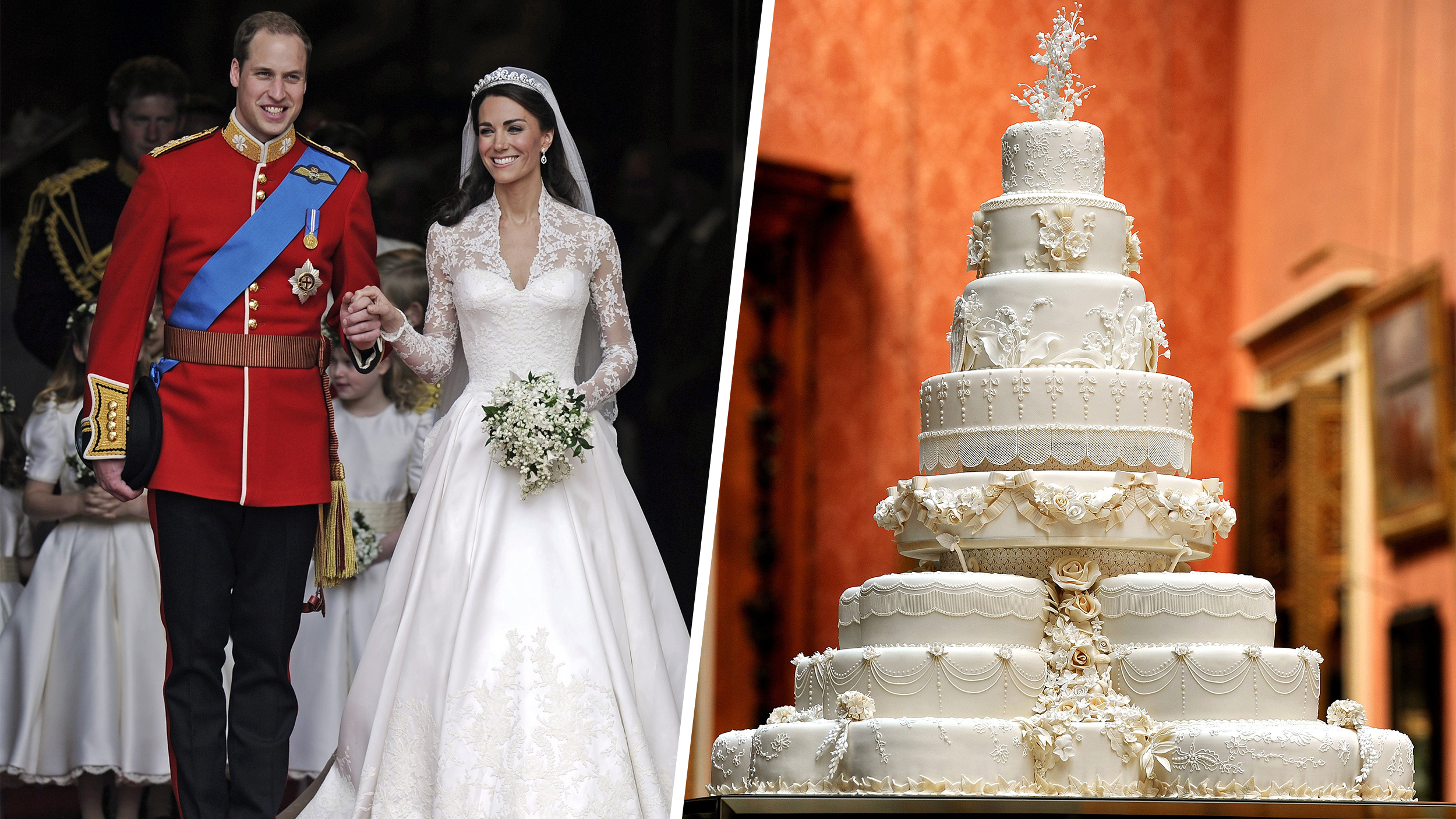 Slice of Will and Kate\'s royal wedding cake up for auction - TODAY.com