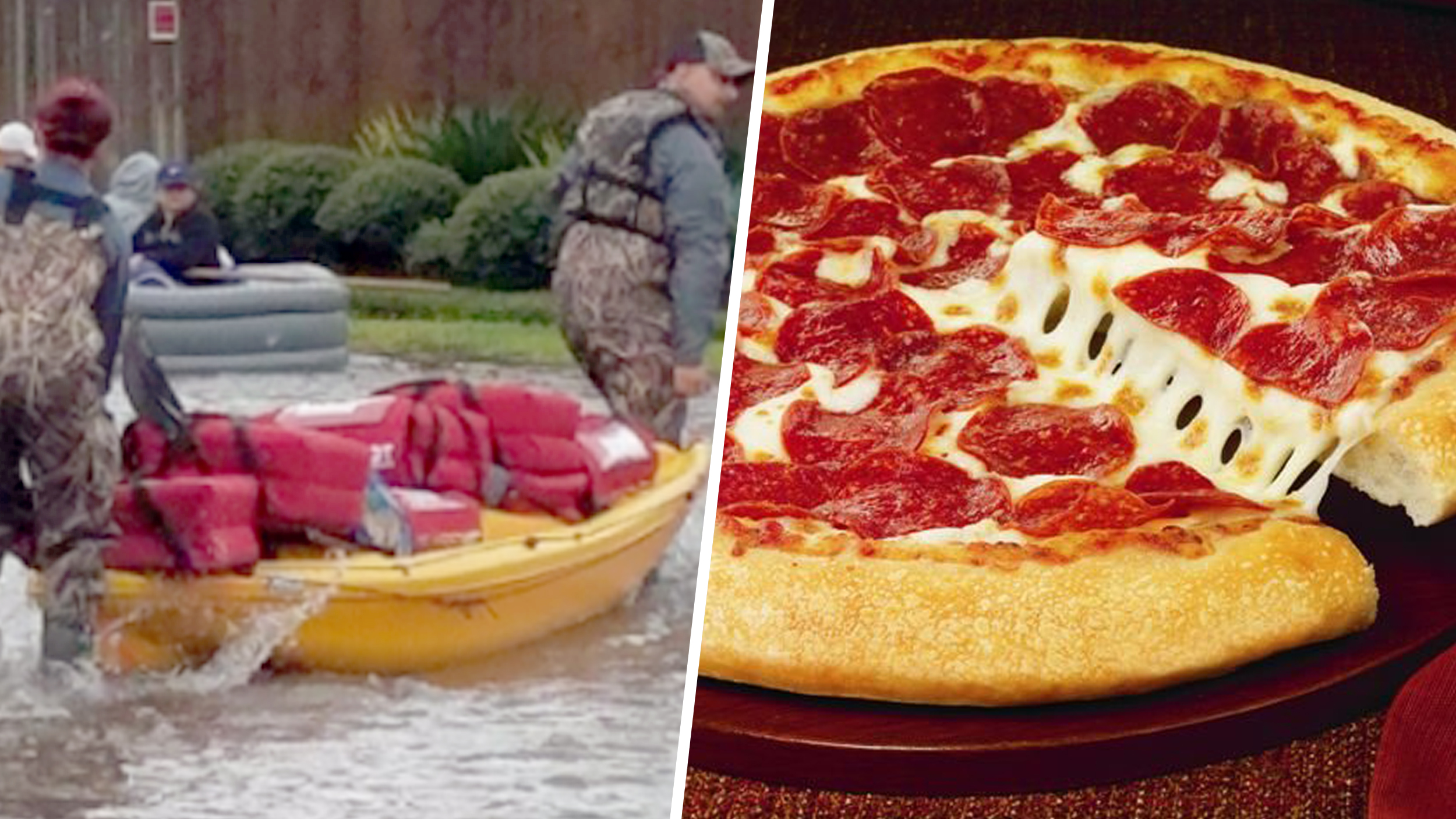 Dedicated delivery! How these Pizza Hut workers got food ...