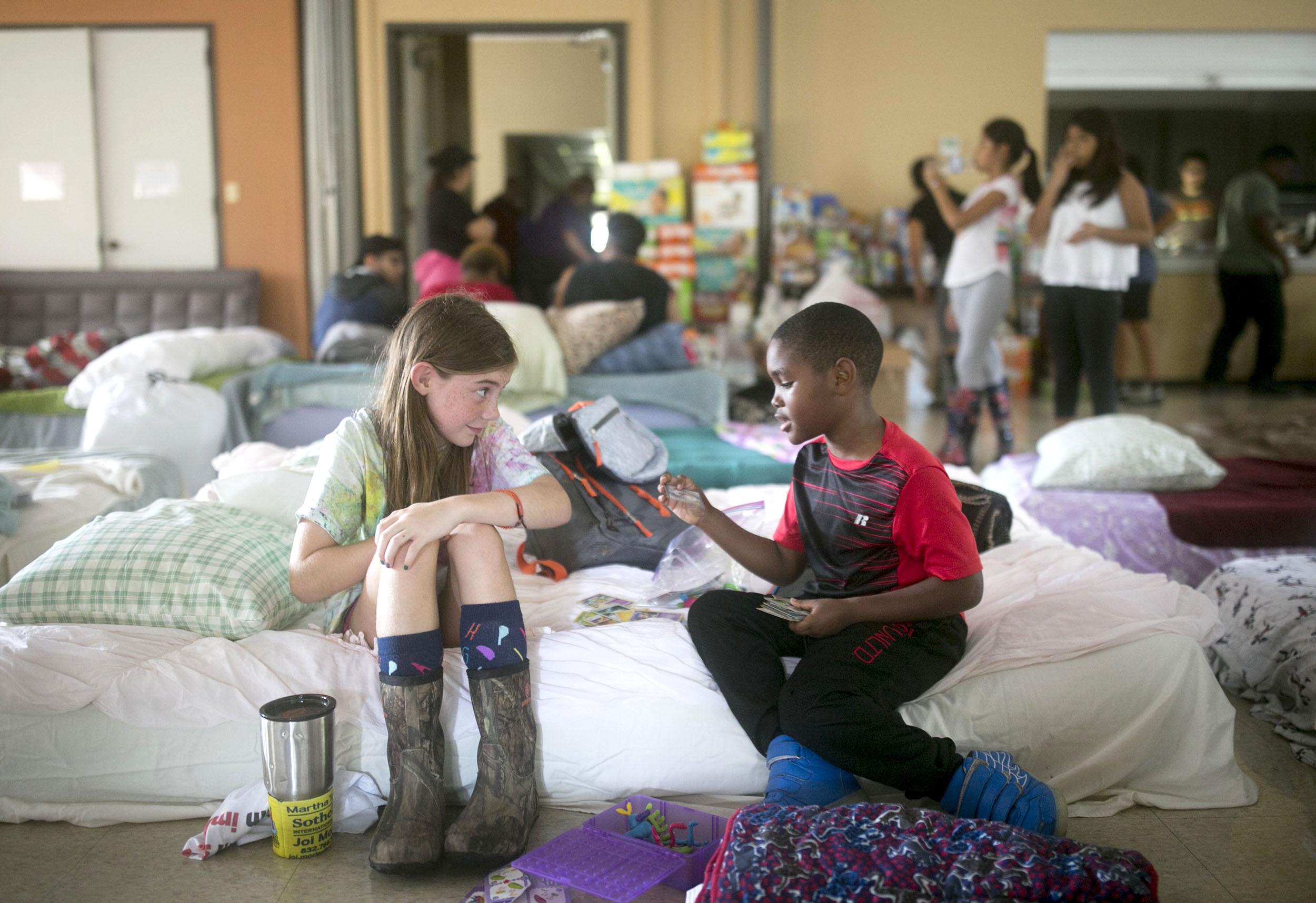 Image: Evacuee Centers in Houston