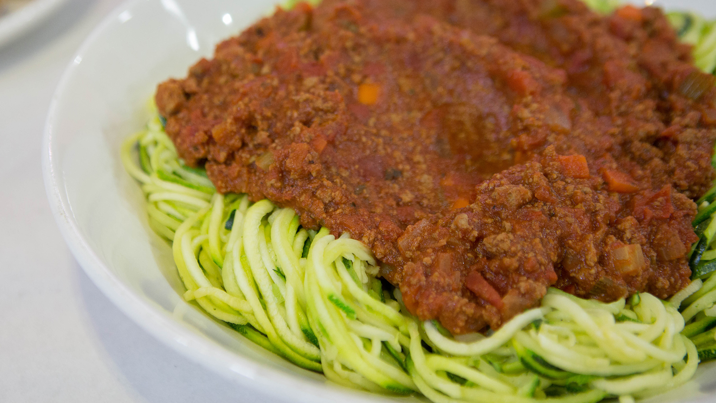 z paghetti bolognese zucchini noodles with meat sauce today com
