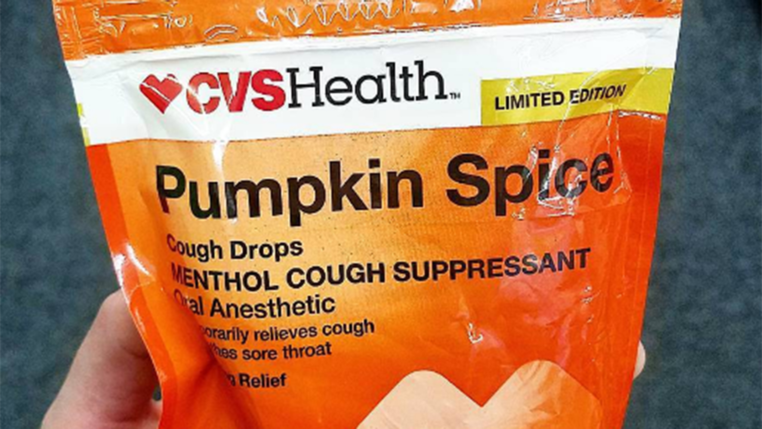 Pumpkin spice cough drops?! Yes, they're here for a limited