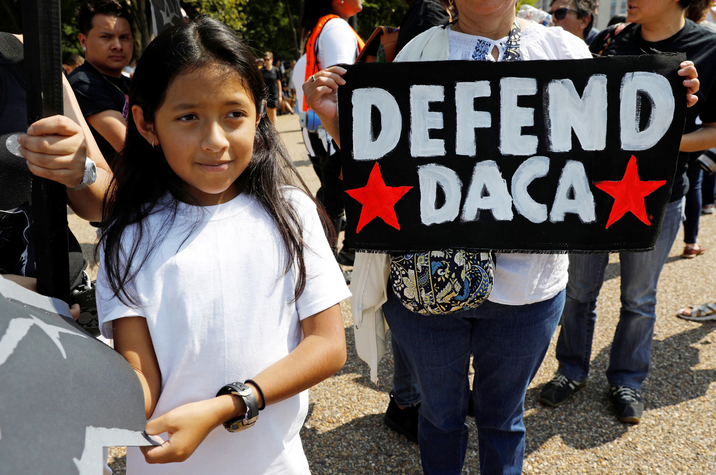 Image: DACA supporters demonstration at the White House in Washington