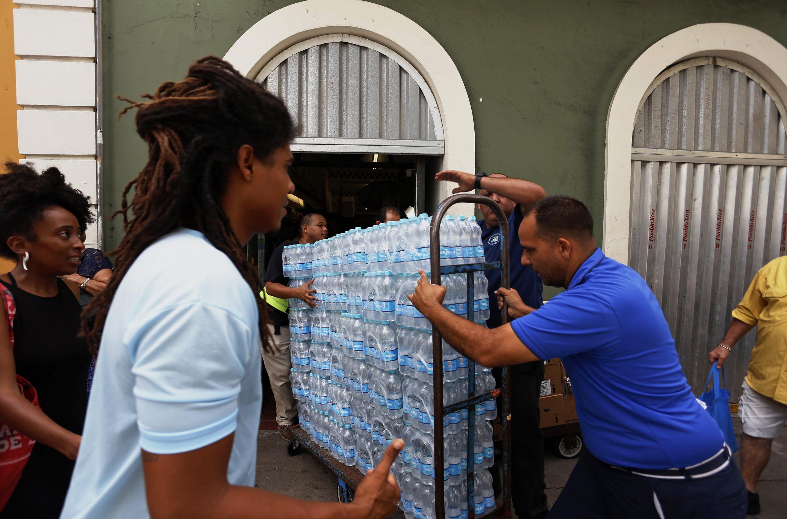 Image: Puerto Rico takes measures ahead of Irma's Hurricane passsage
