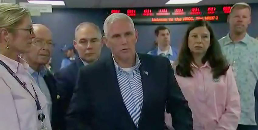 Mike-Pence-Visits-FEMA-as-Irma-Hits-Florida