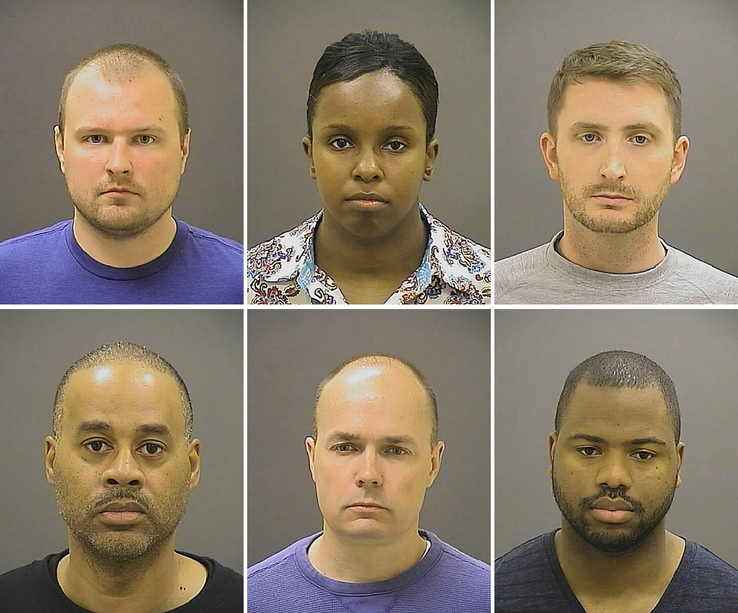 Image: Baltimore police officers charged in Freddie Gray case