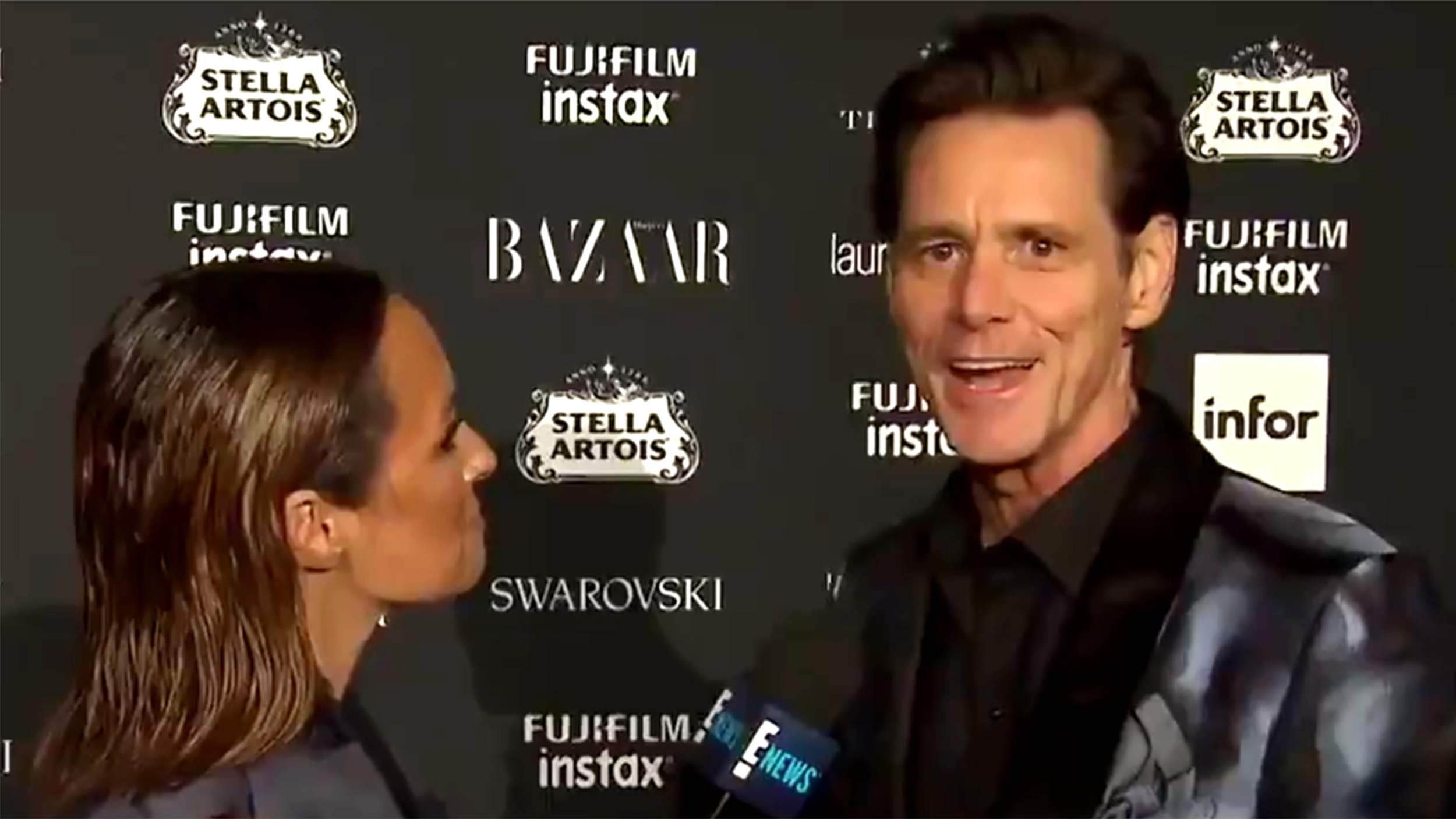 Jim Carrey's New York Fashion Week interview goes viral