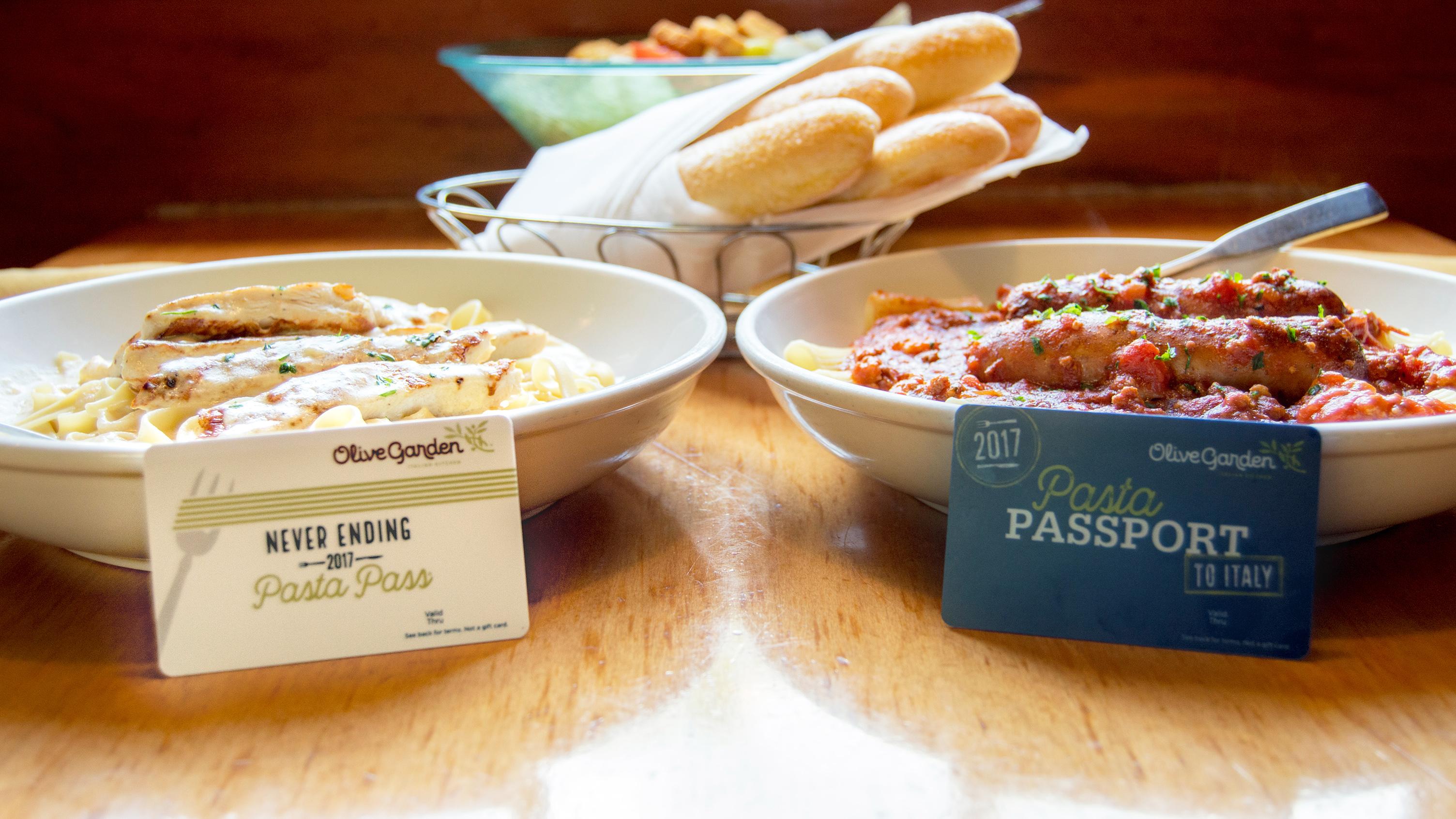 olive gardens never ending pasta pass returns - Olive Garden Rochester Ny