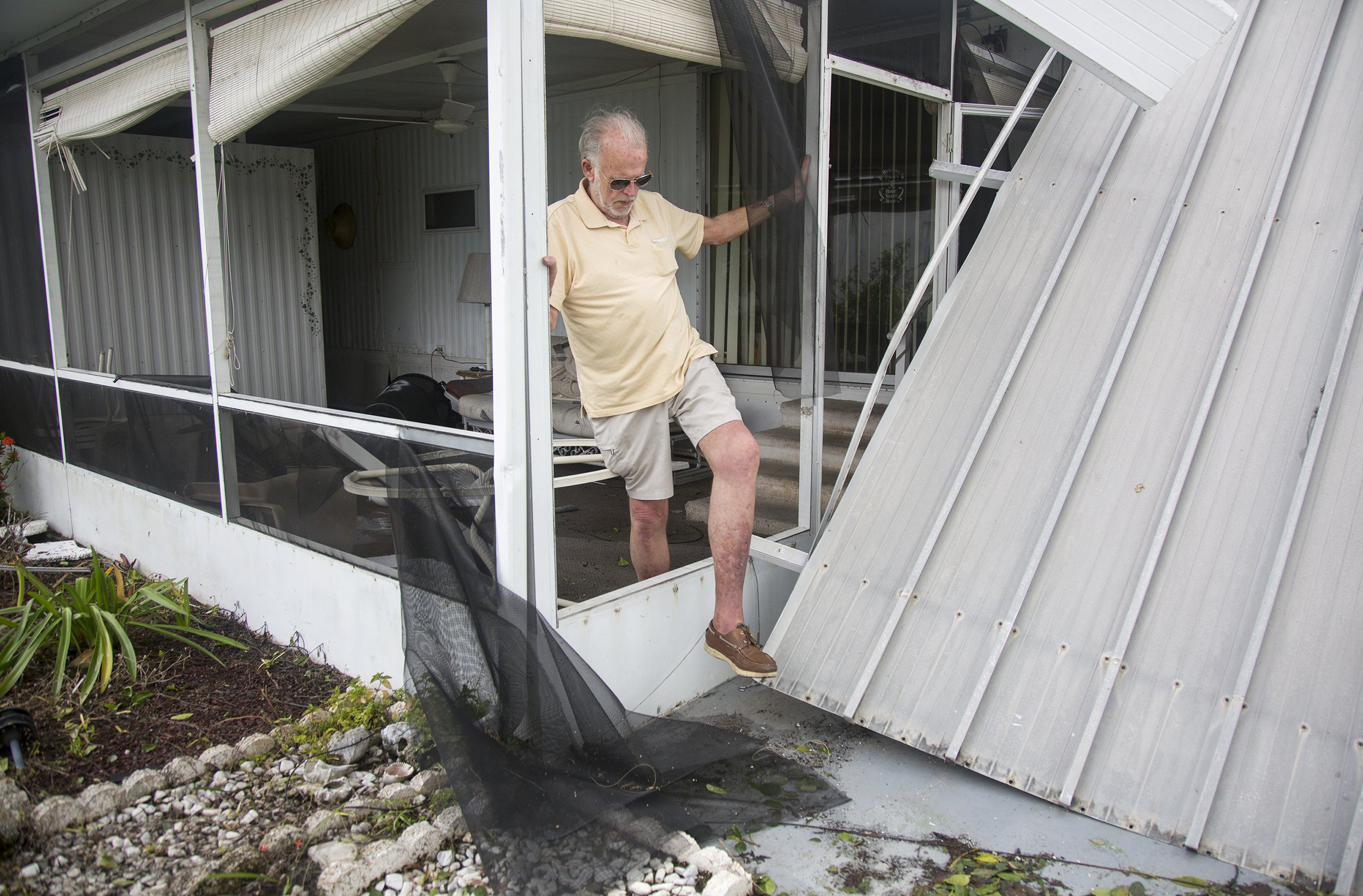 Image: Mike Wright at his home in Holiday Manor in Naples