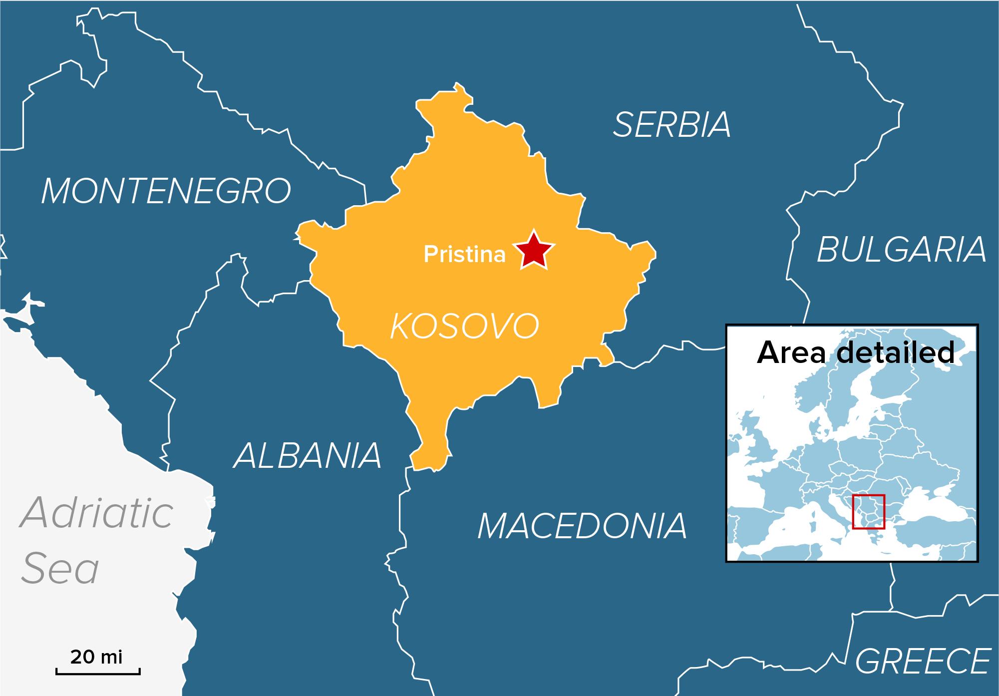 Image: Map of Kosovo