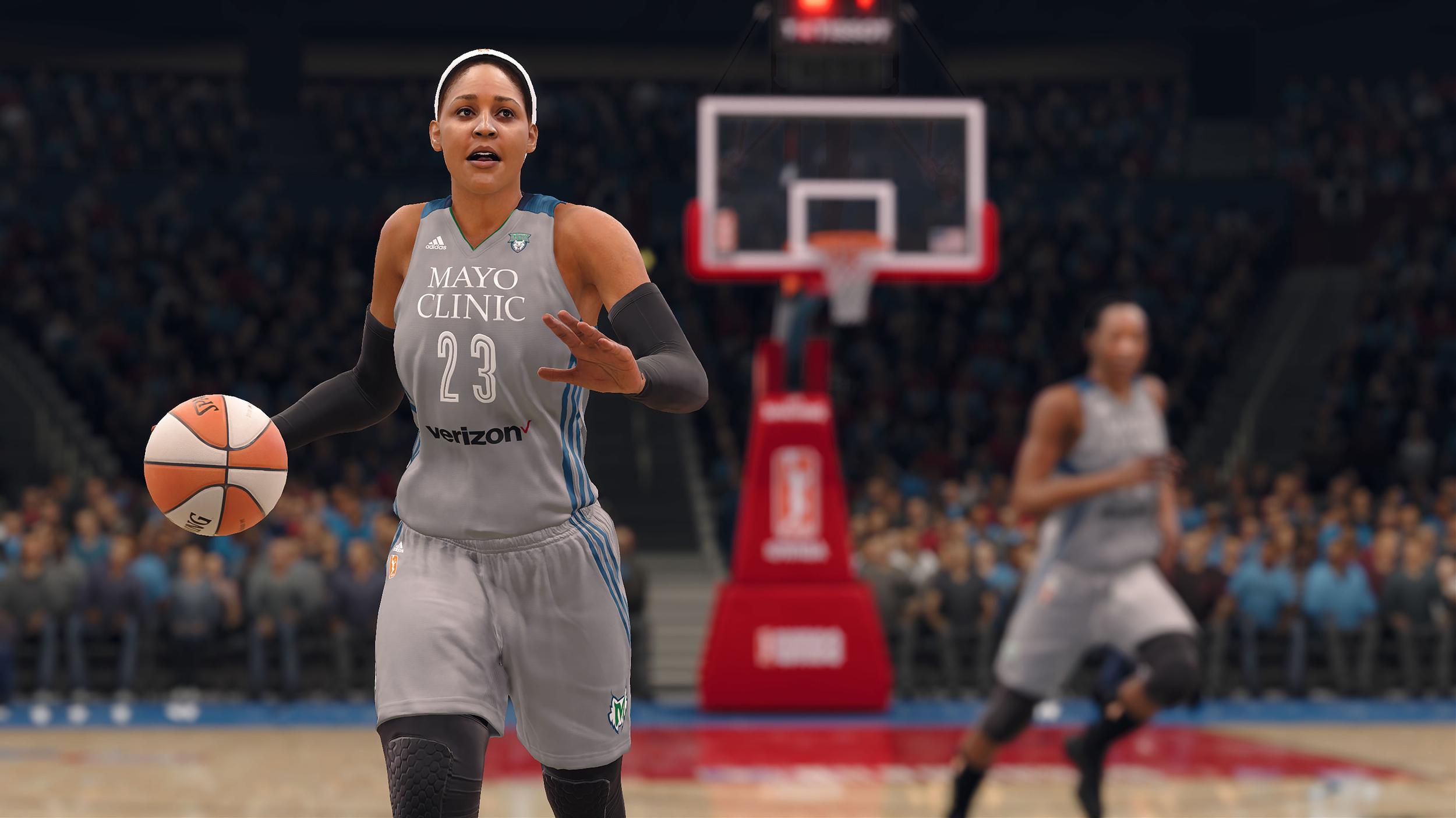 Image: Maya Moore of the Minnesota Lynx in NBA Live 18.