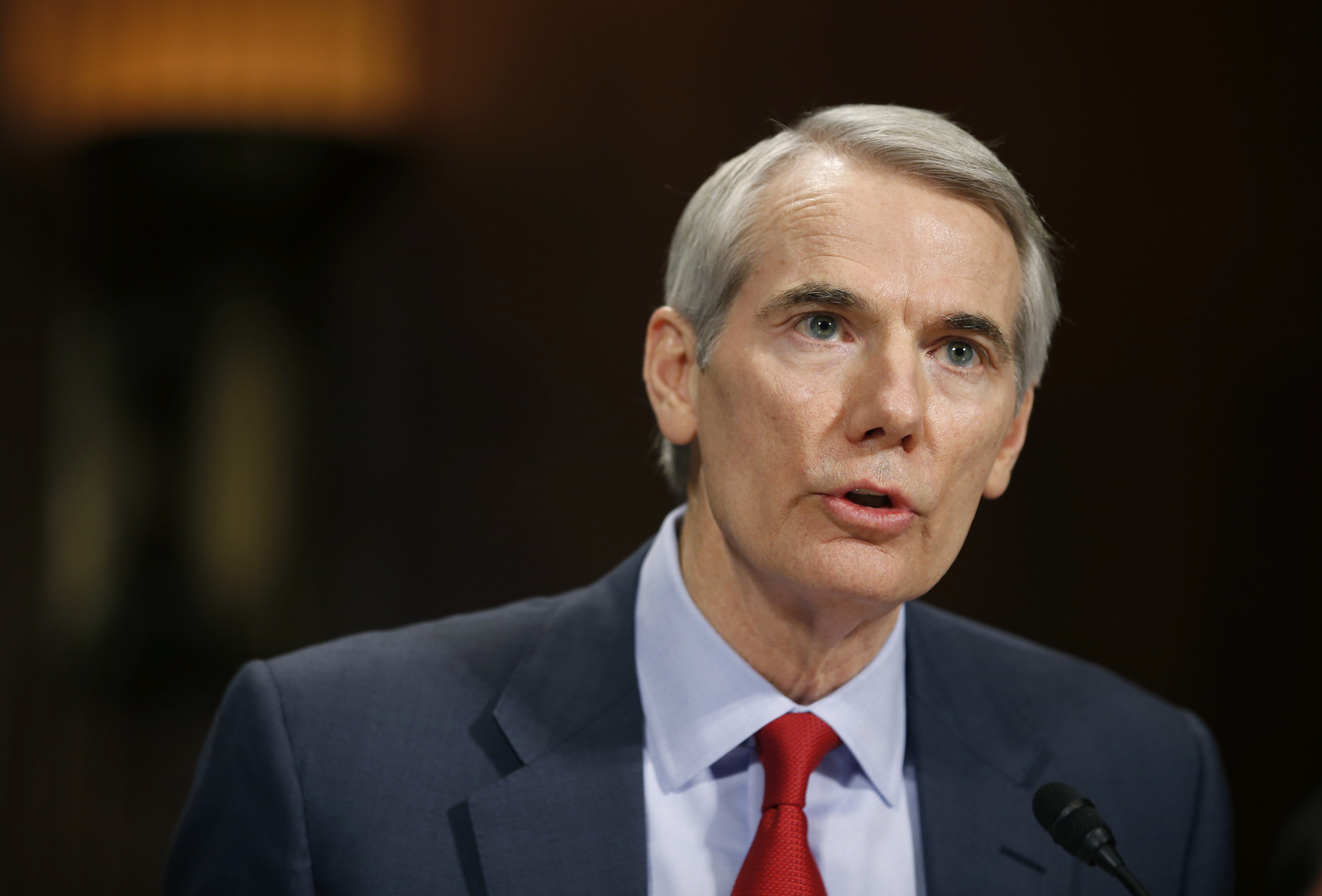 Image: Portman testifies during a Senate Judiciary Committee hearing on attacking America's epidemic of heroin