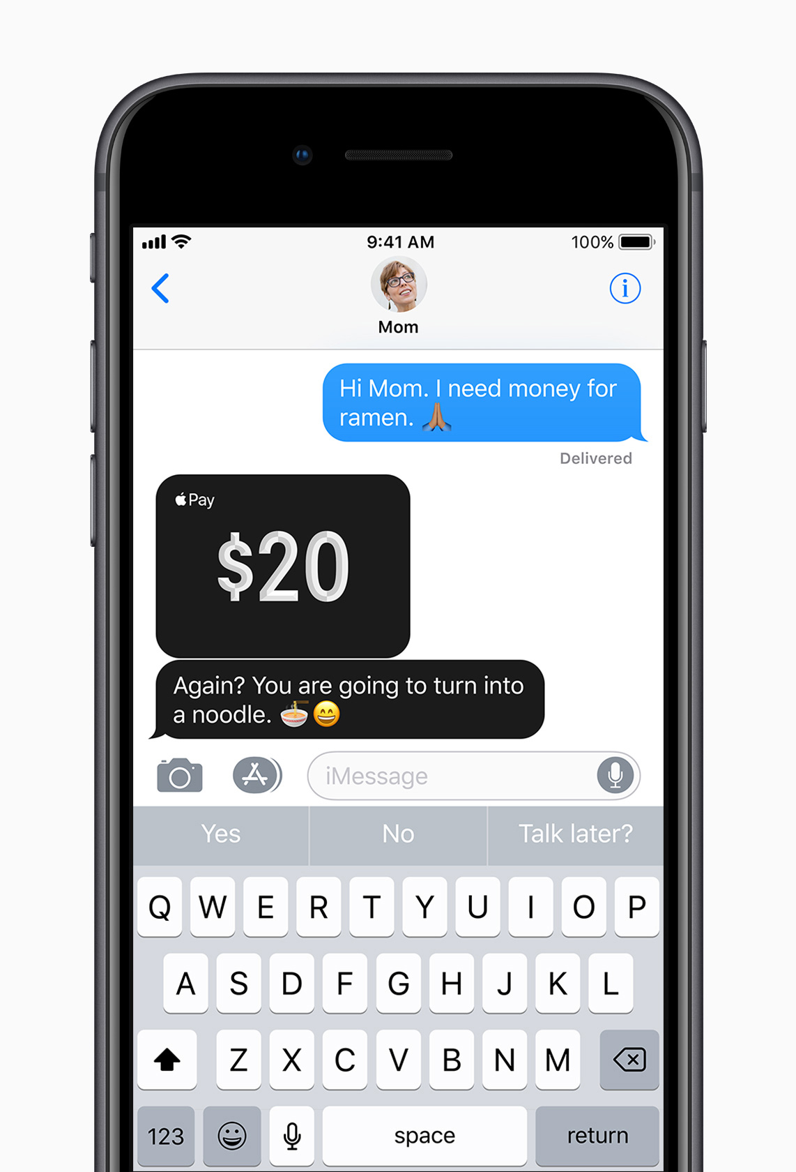 Image: Sending money to friends with Apple Pay on iOS 11