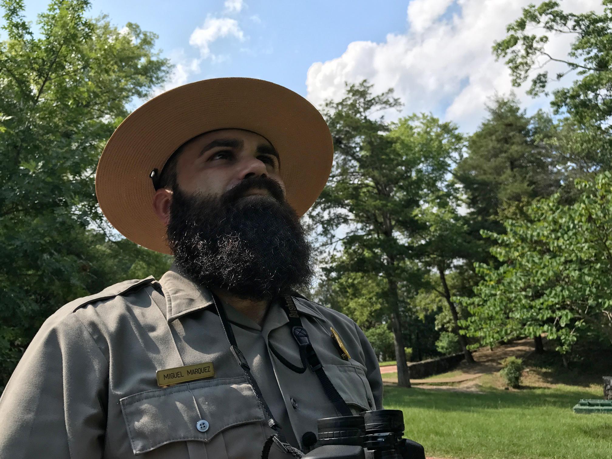 Image: Park ranger Miguel Marquez