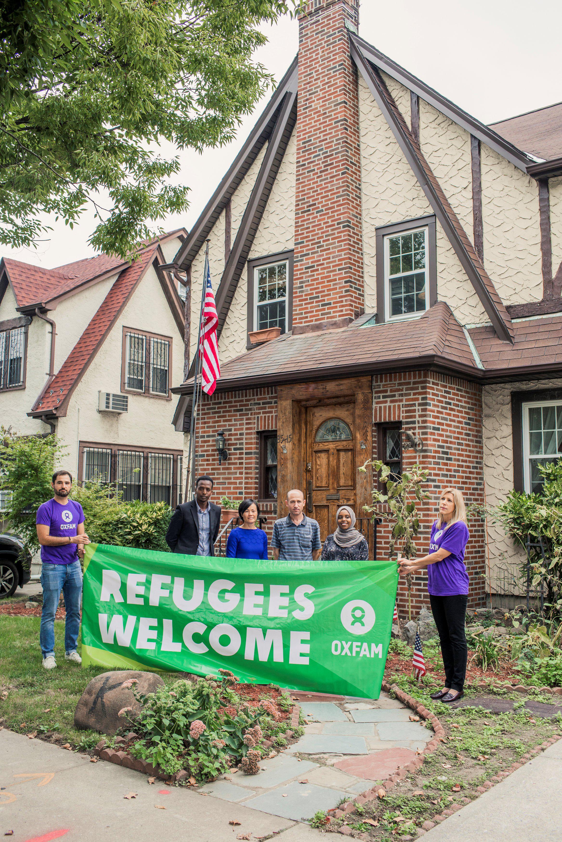 Trumps Childhood Home Be es Crash Pad for Refugees After Oxfam
