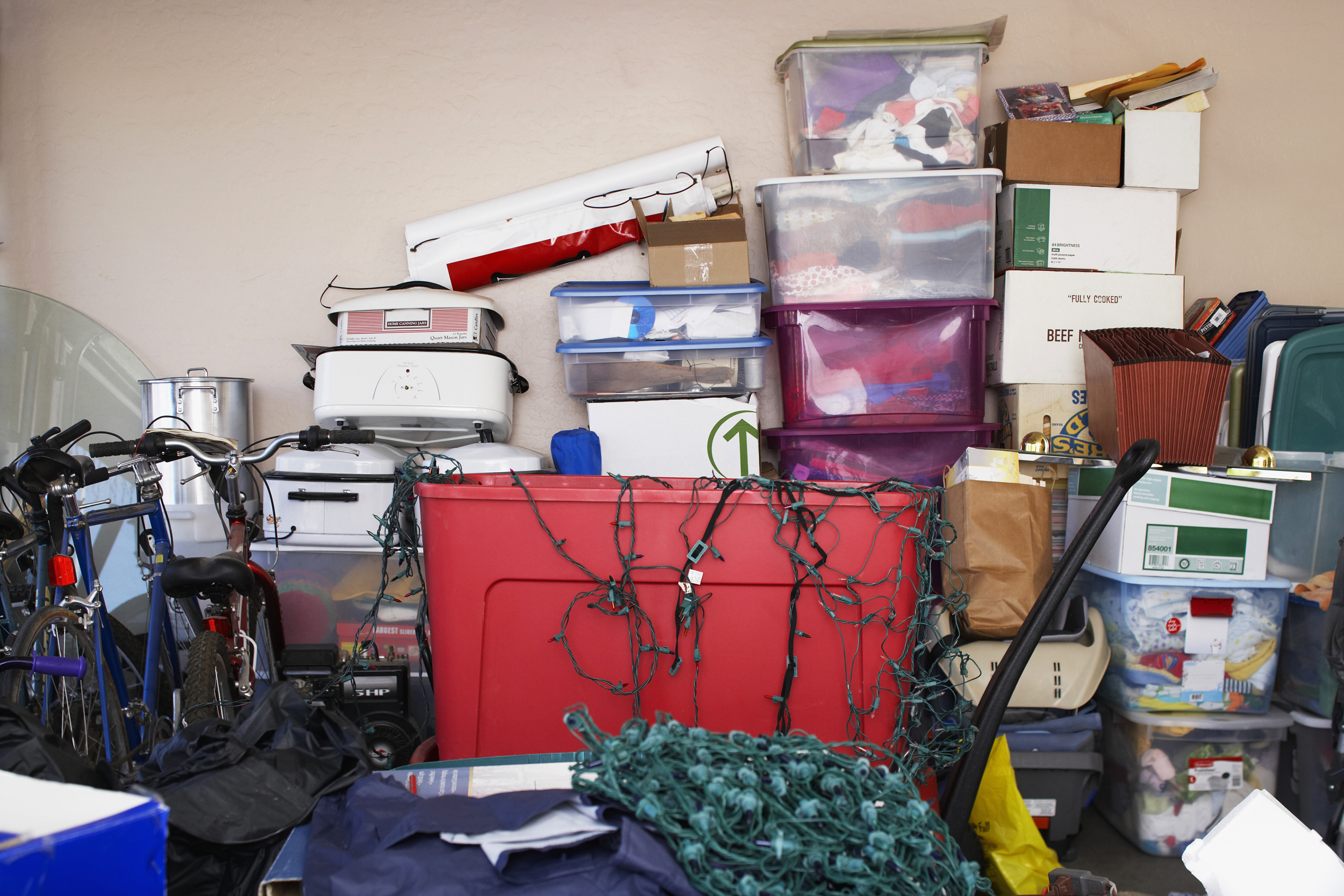Image: Items stored in a garage