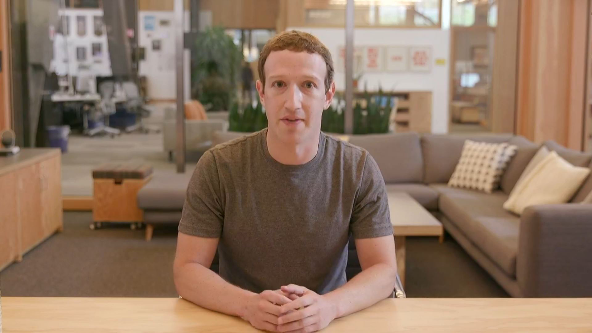 Image: Mark Zuckerberg did a Facebook live to discuss Russian election interference and next steps to protect the integrity of the democratic process.
