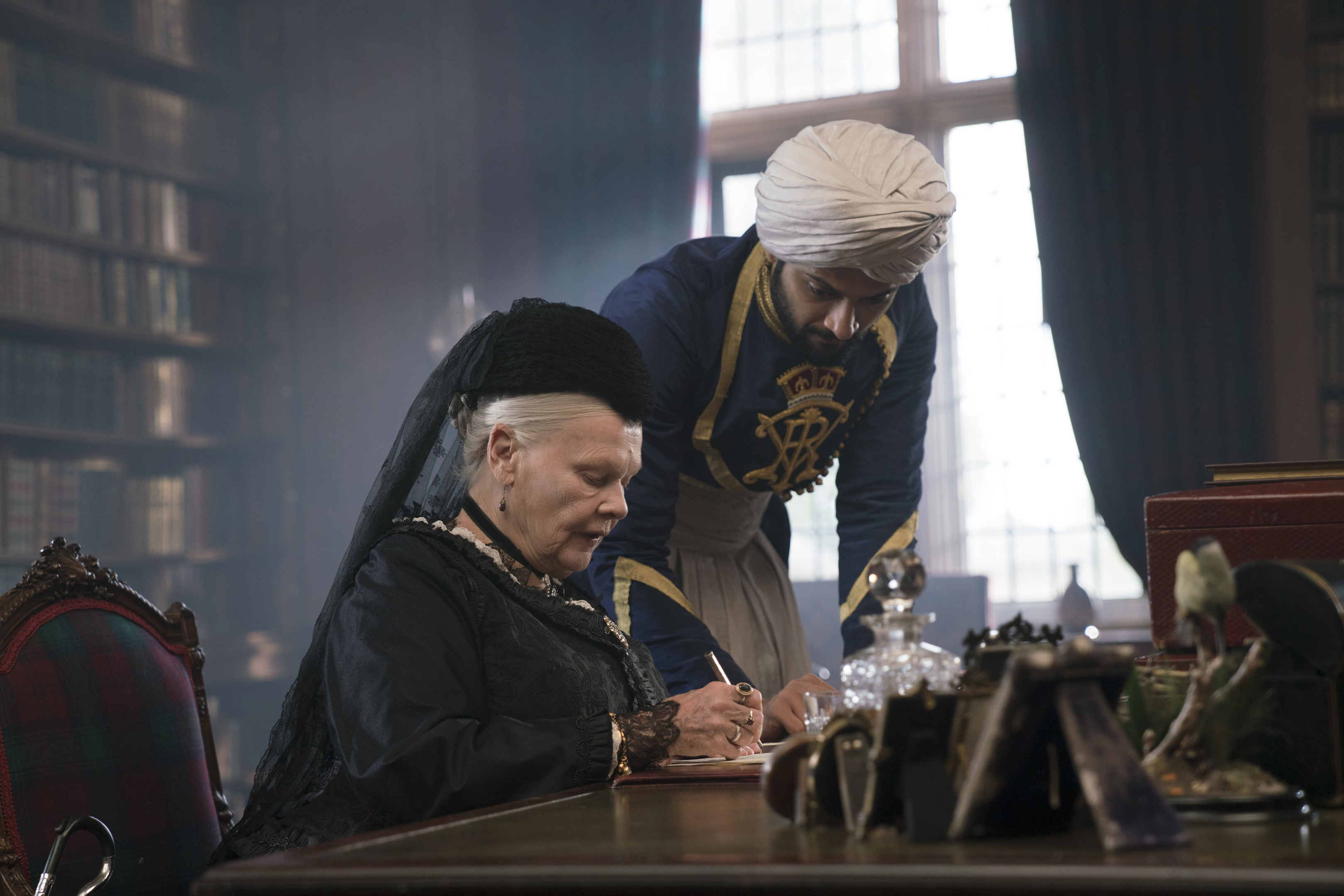 Ali Fazal plays Queen Victoria's (Judi Dench) trusted advisor Abdul Karim in