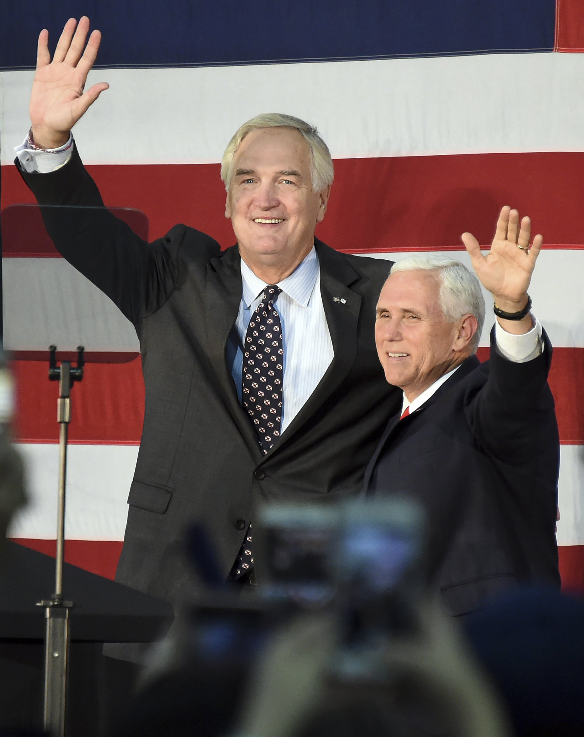 Image: Vice President Mike Pence campaigning for Sen. Luther Strange in Alabama.