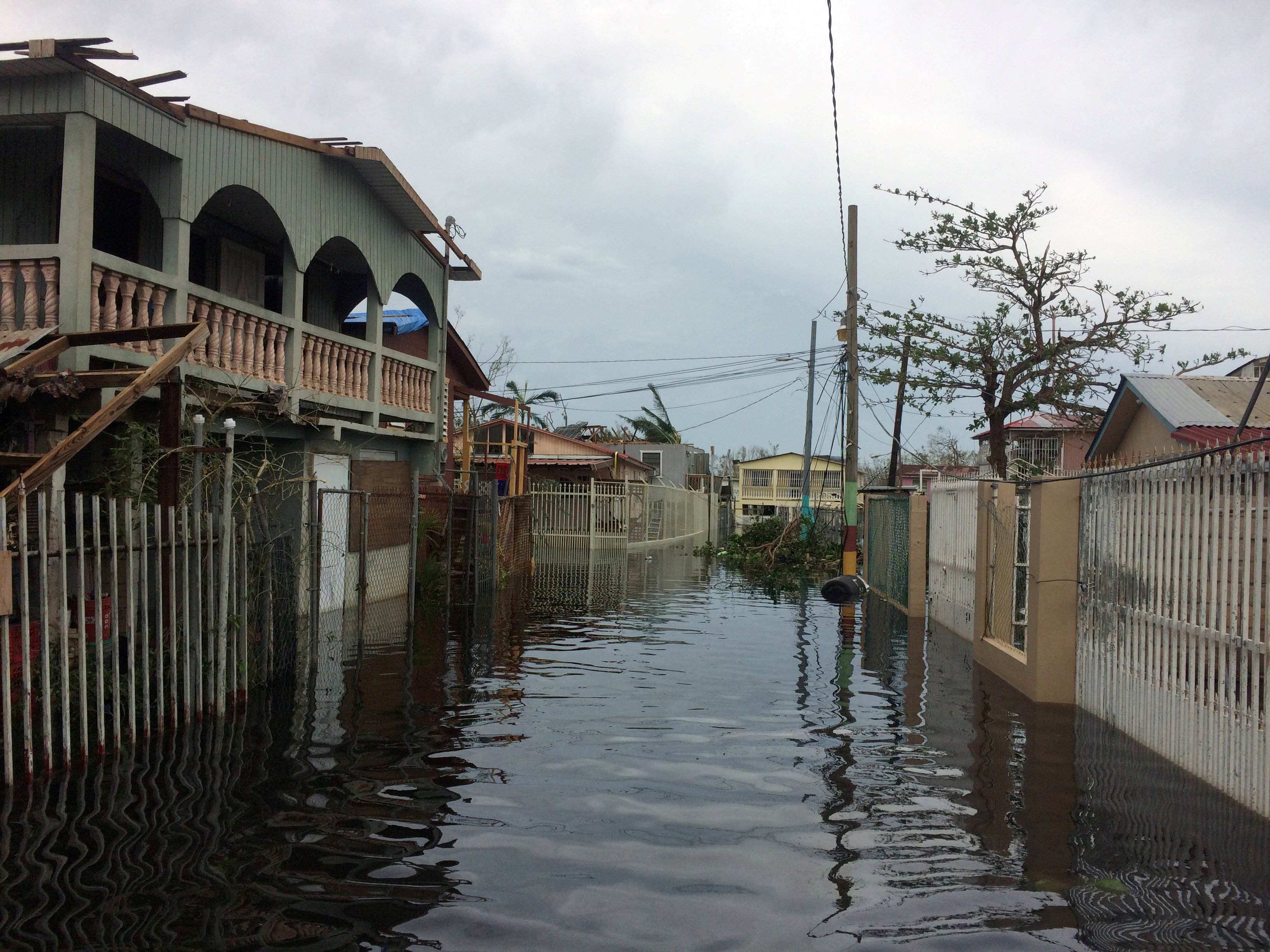 Image: FILE PHOTO: A flooded street is seen in the Juana Matos neighbourhood in Catano municipality after Hurricane Maria