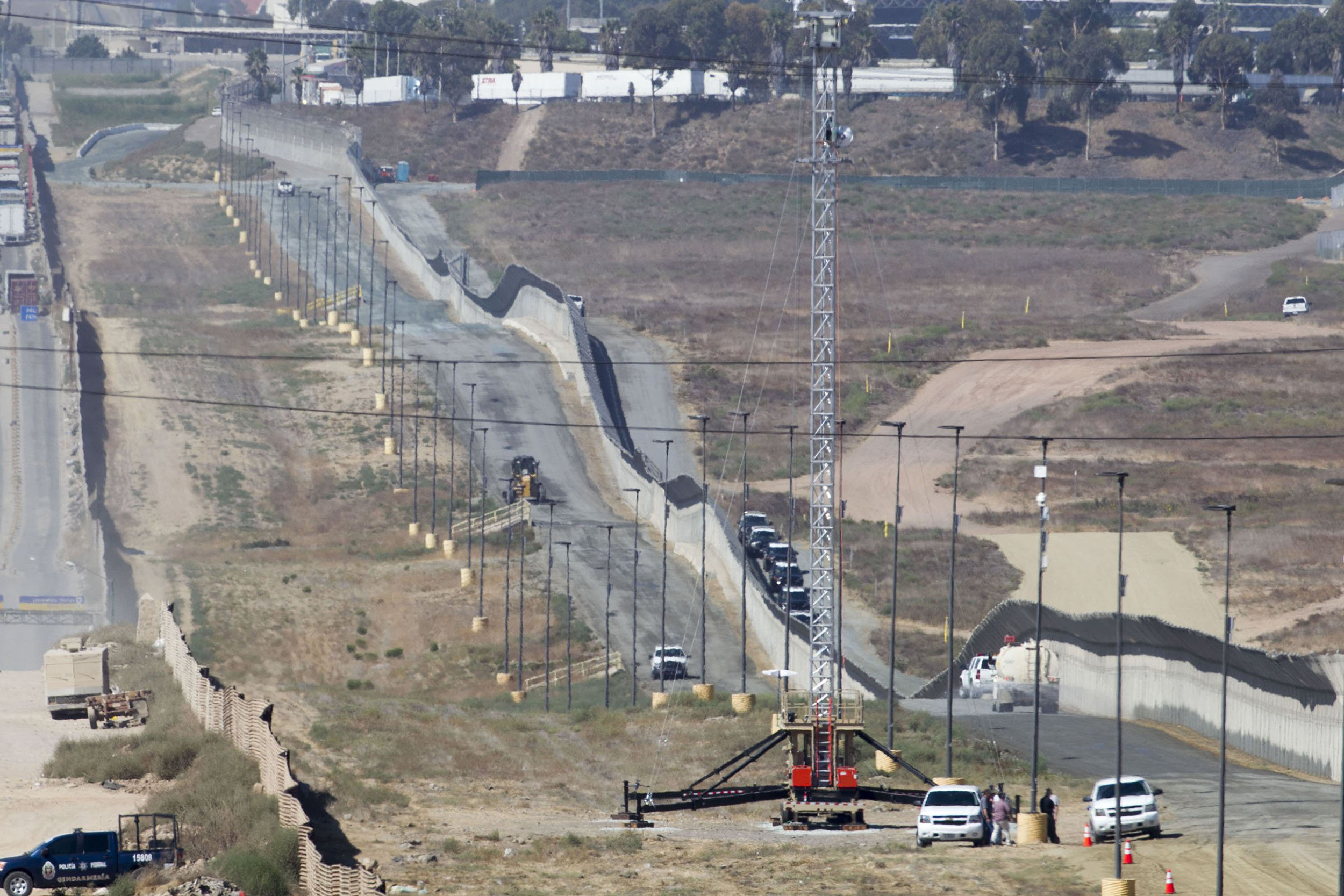Image: Border Wall Prototype Construction Begins In San Diego