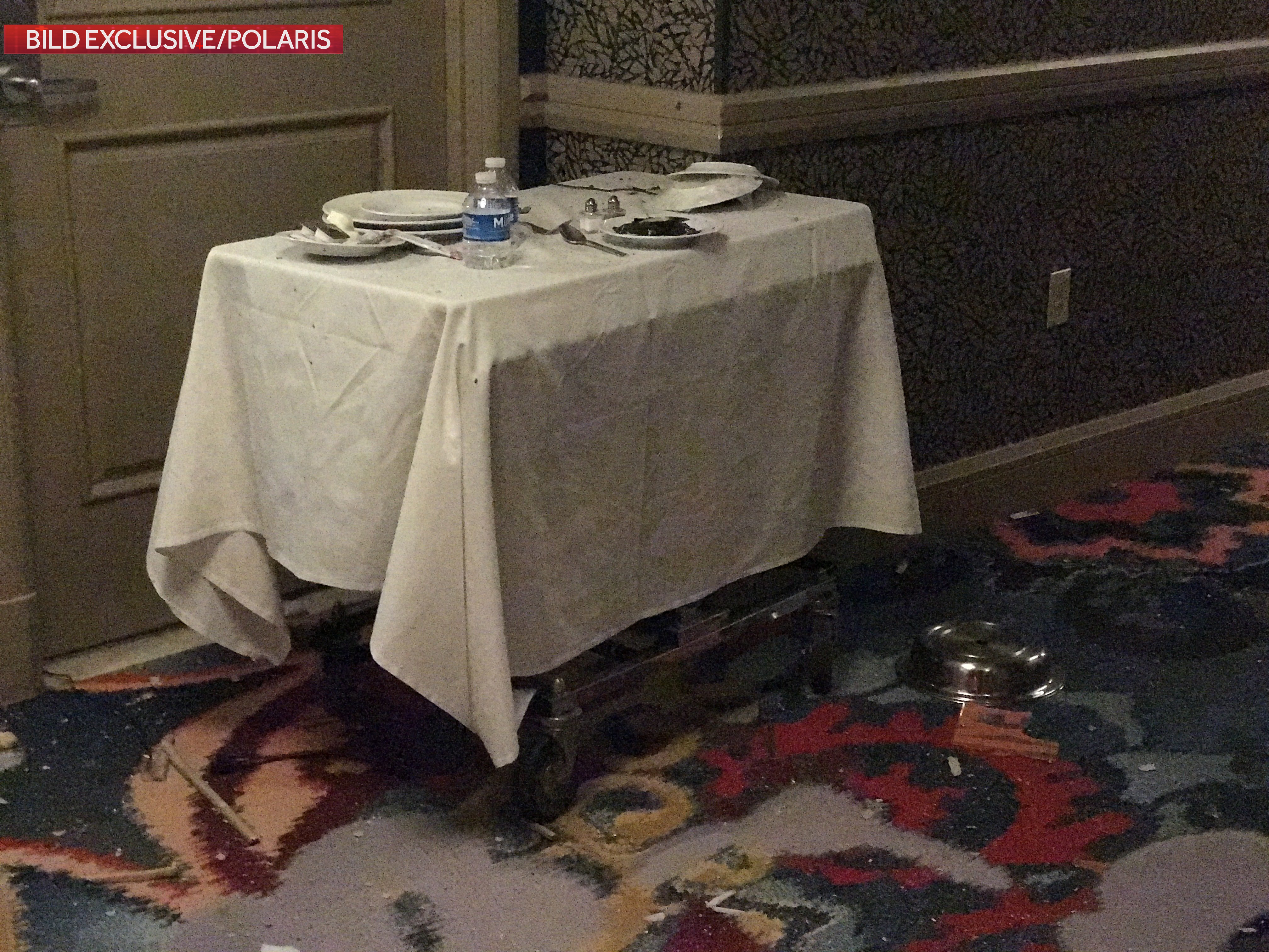 Image: Table outside Mandalay Bay hotel room