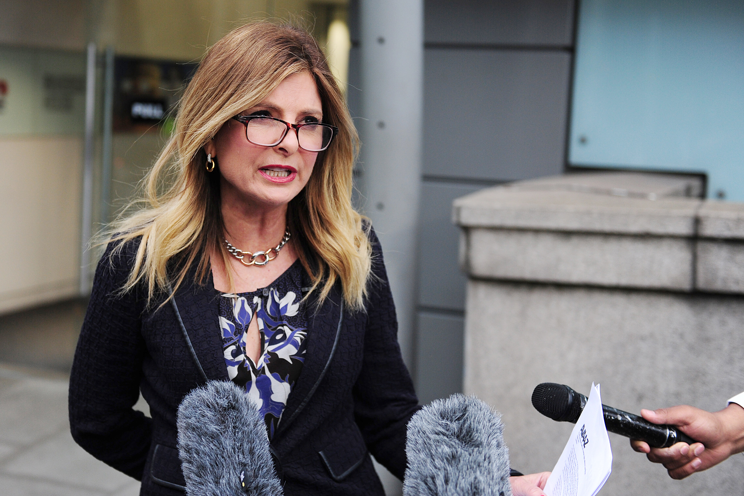 Image: Lisa Bloom speaks to the media outside Ofcom in London