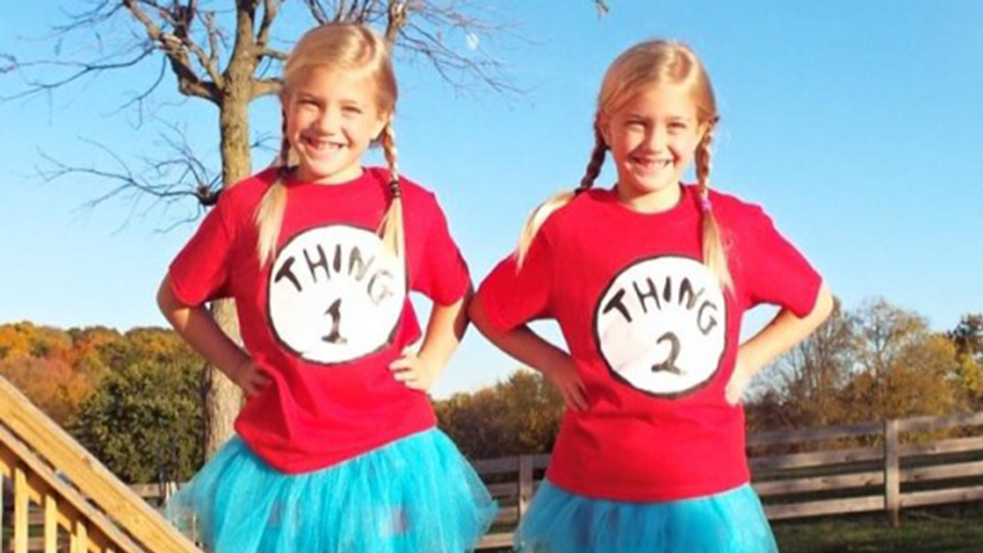 Last Minute Diy Kids Halloween Costume Thing One And Two