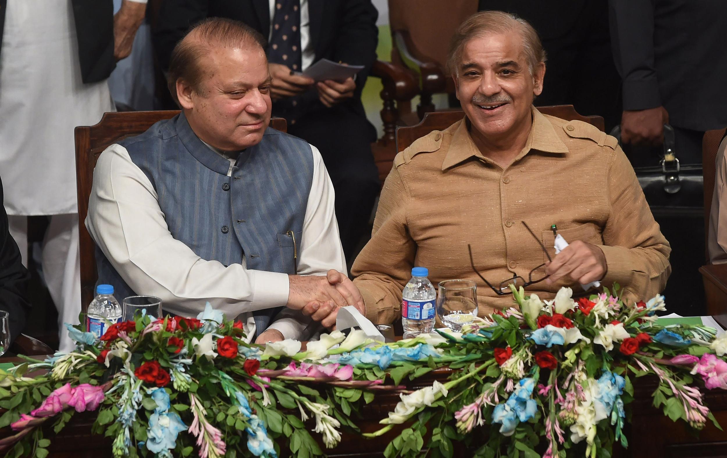 Image: Nawaz Sharif, Shahbaz Sharif