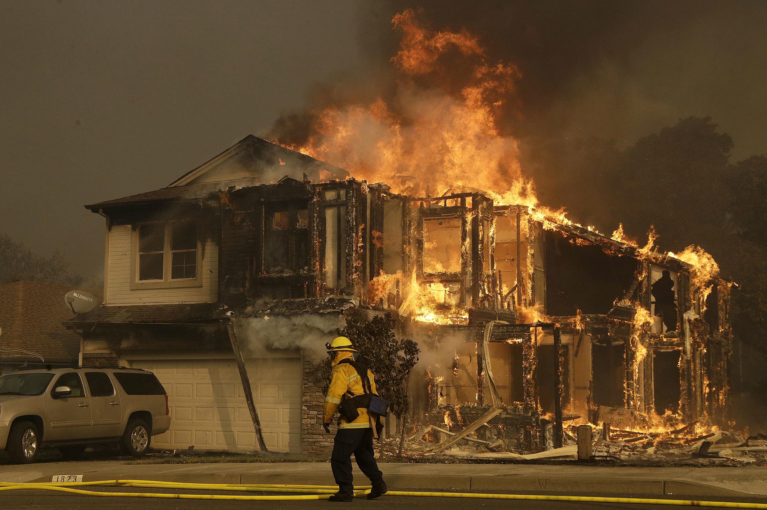 Image: Santa Rosa, Calif., fire