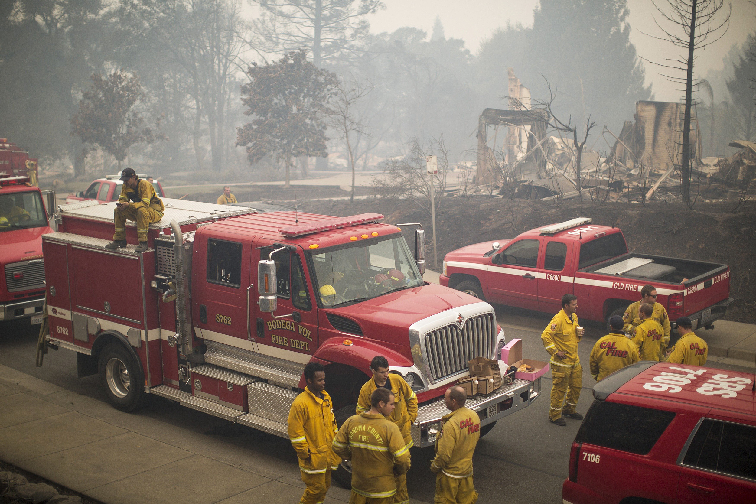 Raging Wildfires Caught Sleeping Californians by Surprise