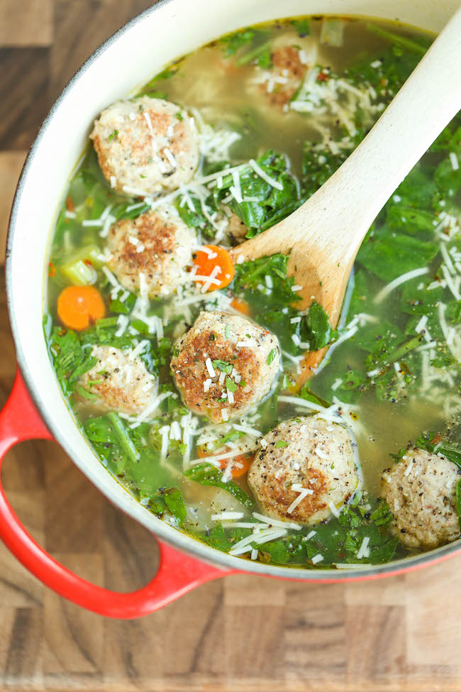 Image: Turkey Meatball and Spinach Soup