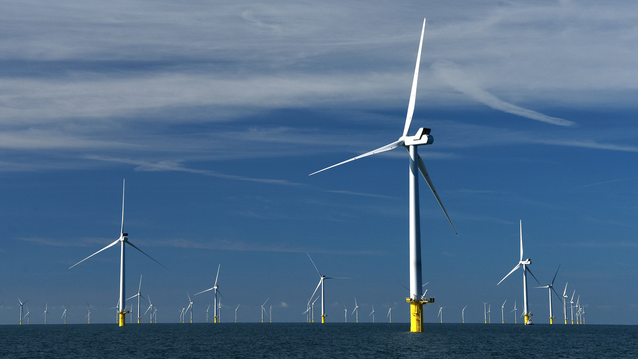 A single floating wind farm could power the entire planet
