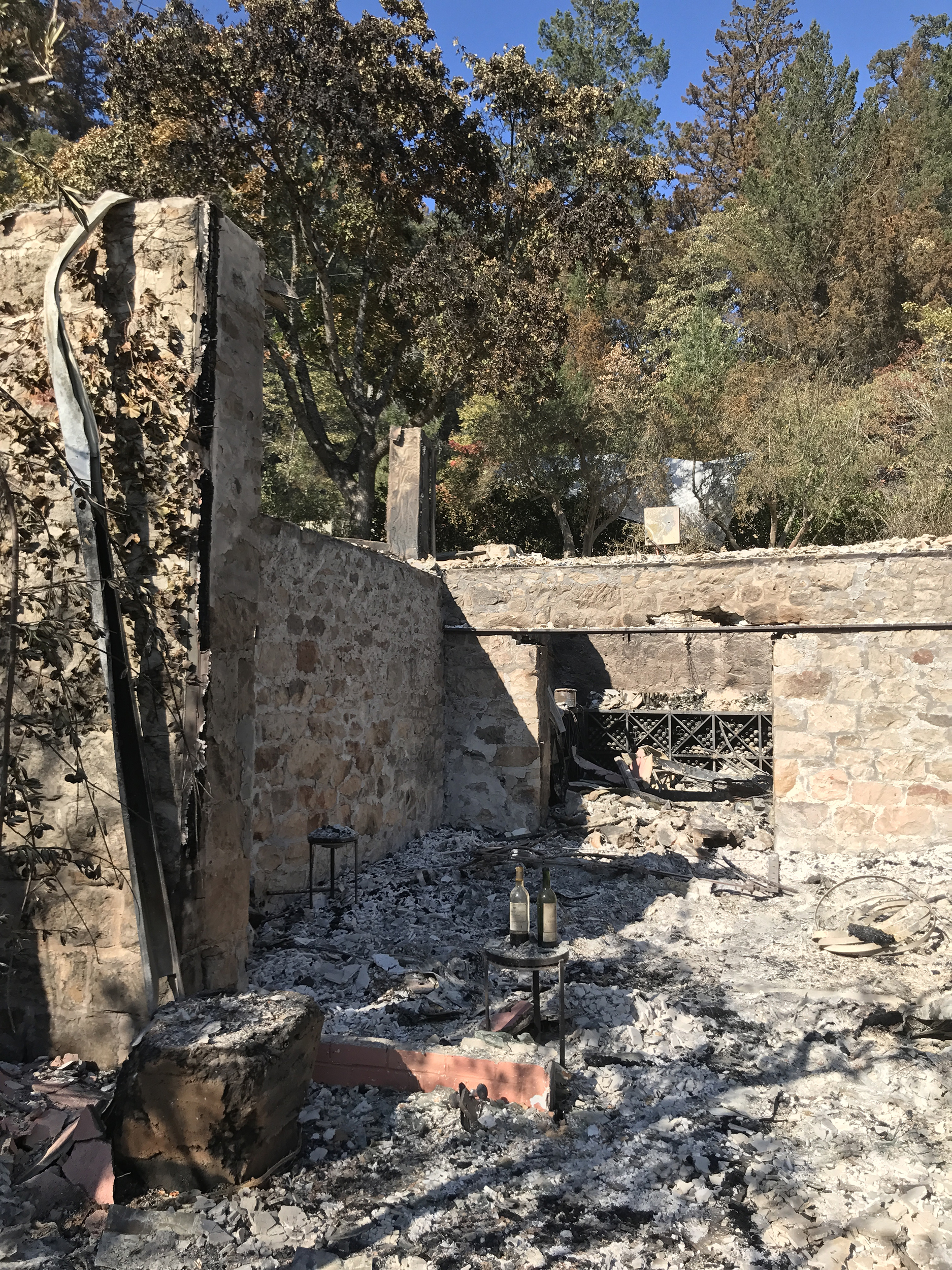 Image: Rubble of Mayacamas Vineyards