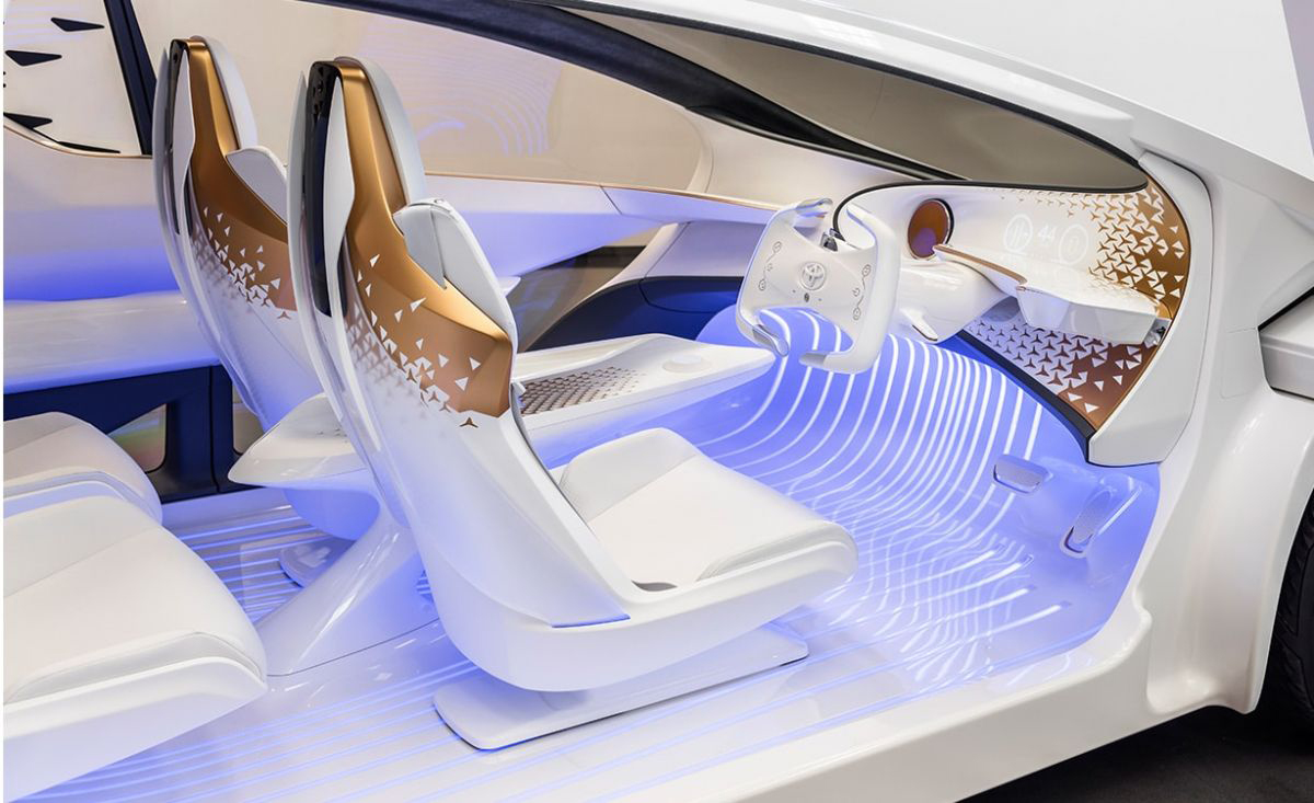 Image: Toyota's Concept-i vehicles would be equipped with its AI virtual assistant called Yui