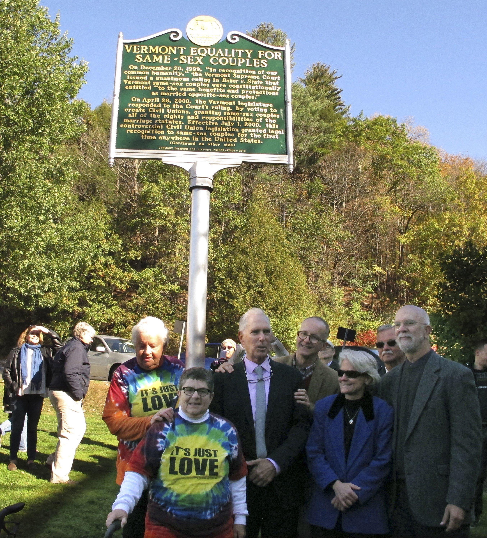 Vermont Commemorates Civil Unions With Historic-Site Marker
