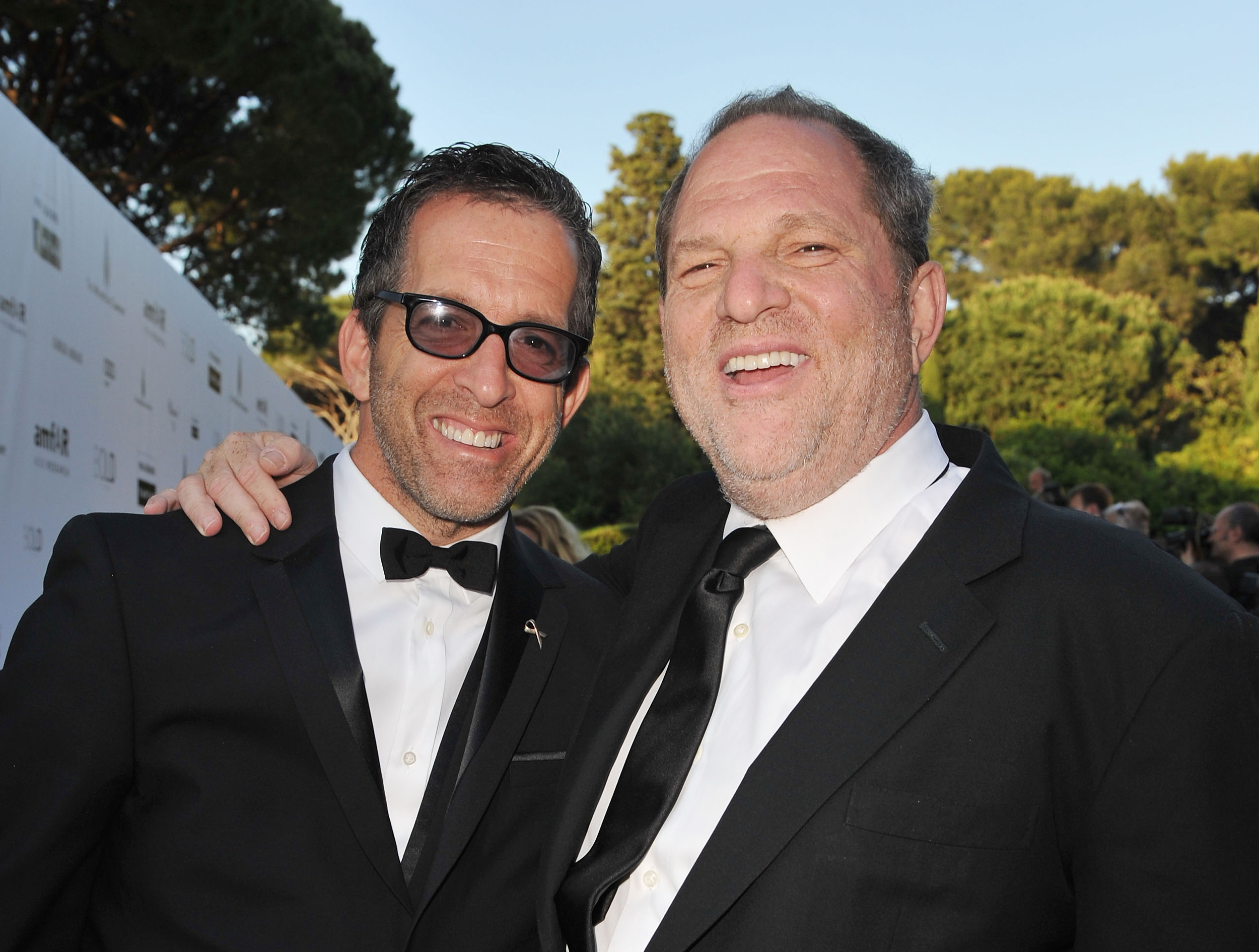 Image: Kenneth Cole, amfAR chairman, and Harvey Weinstein arrive at amfAR's Cinema Against AIDS 2010 benefit gala