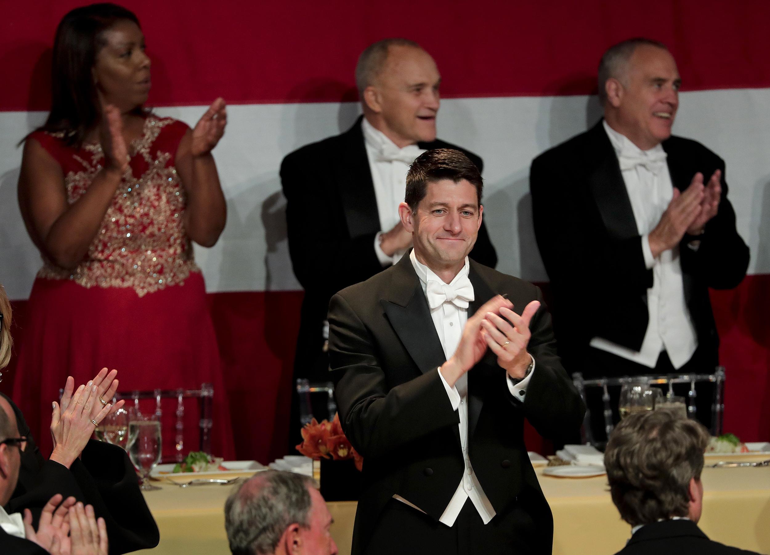 Speaker Paul Ryan Roasts President Trump at Al Smith Dinner