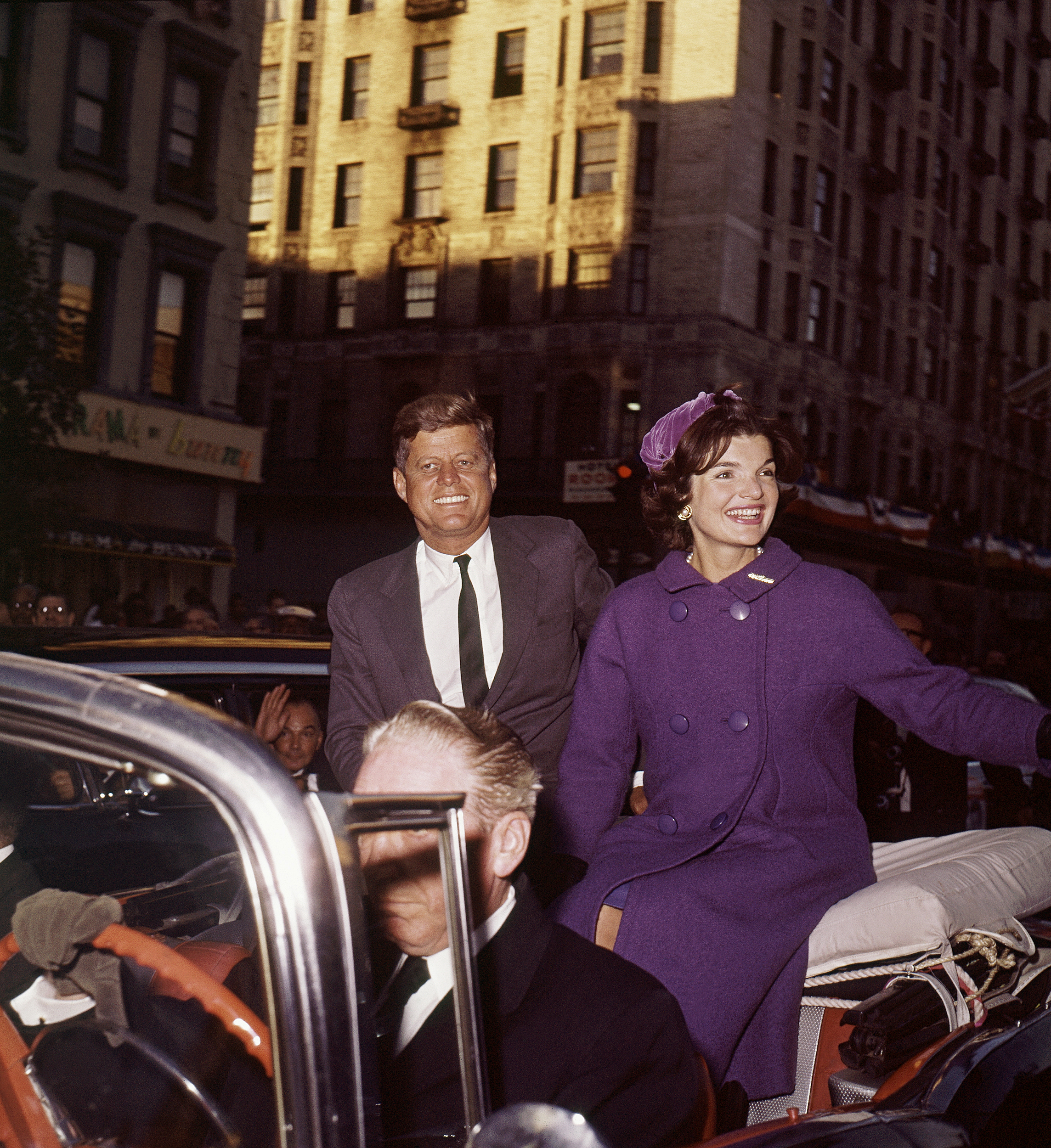Image: U.S. Senator John F. Kennedy, with wife Jacqueline, campaign in New York City