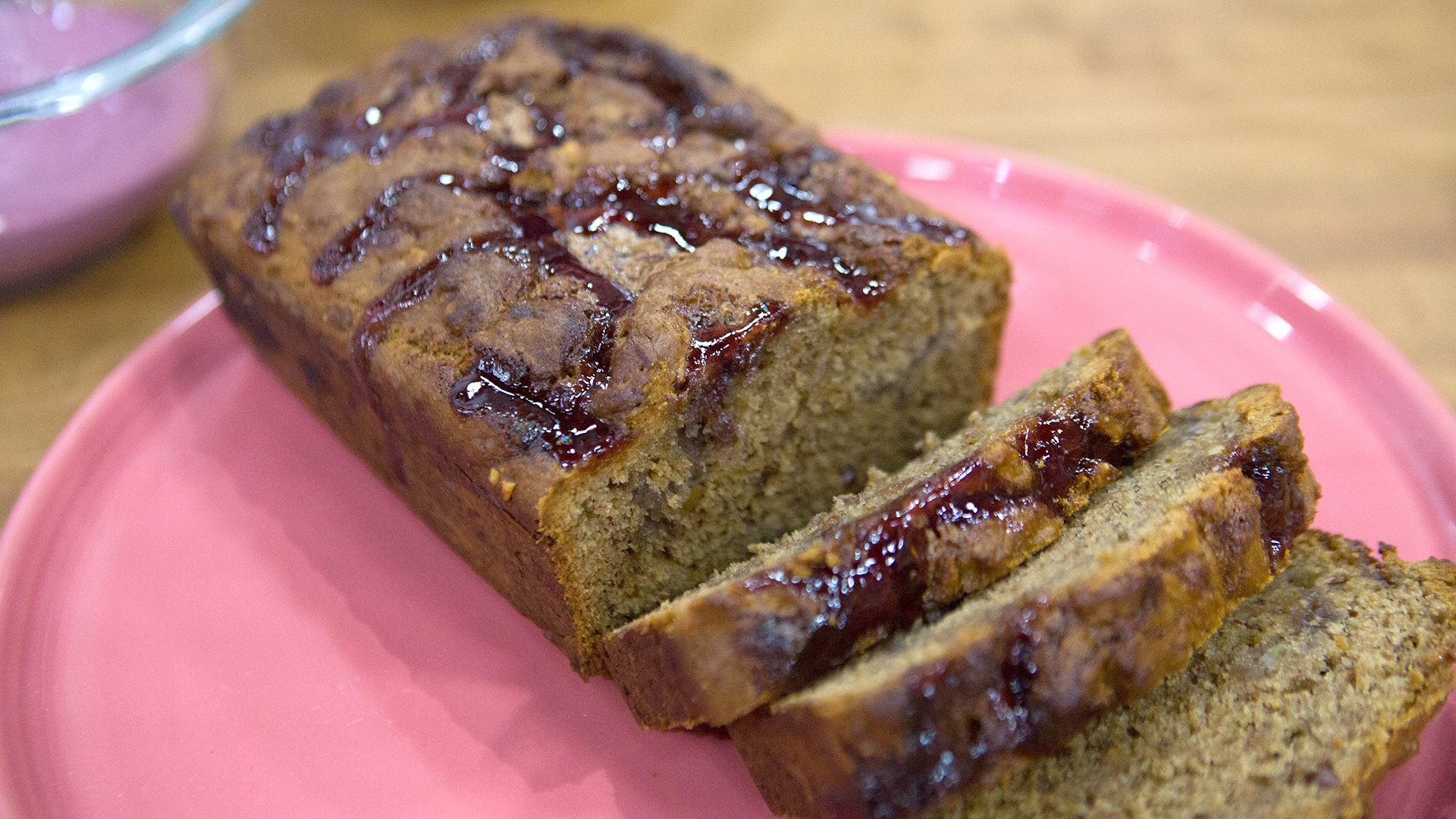 Peanut Butter and Jelly Swirled Banana Bread - TODAY.com