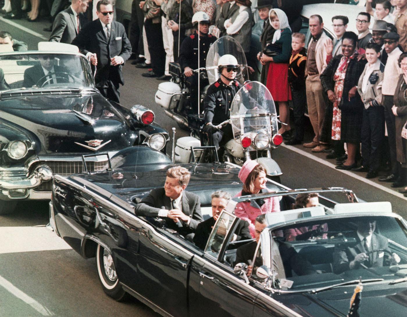 Image: President John F. Kennedy's motorcade in Dallas.