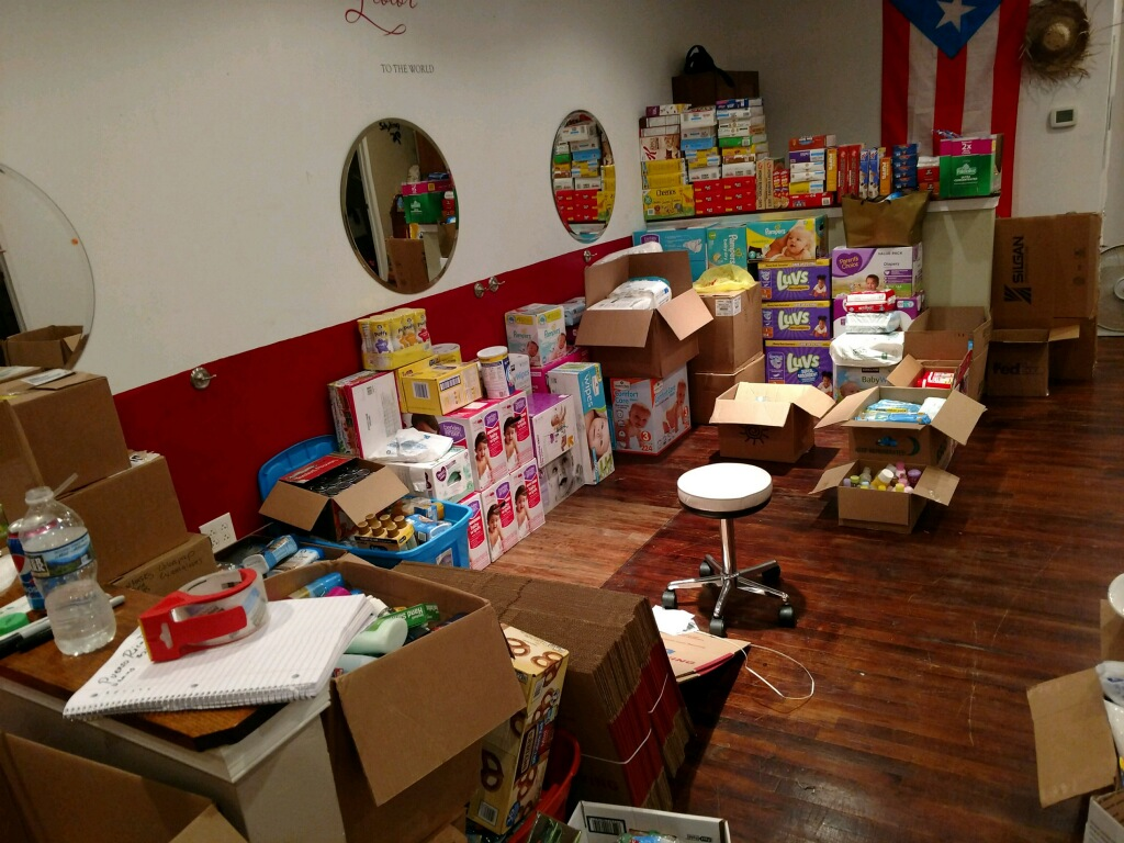 Supplied Kelvin Pena and the Everybody Eats Foundation have collected and plan to send to Puerto Rico.