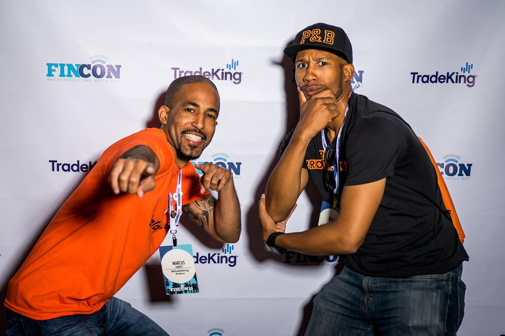 Image: Marcus, and Rich, hosts of the podcast, Paychecks & Balances at FinCon2016