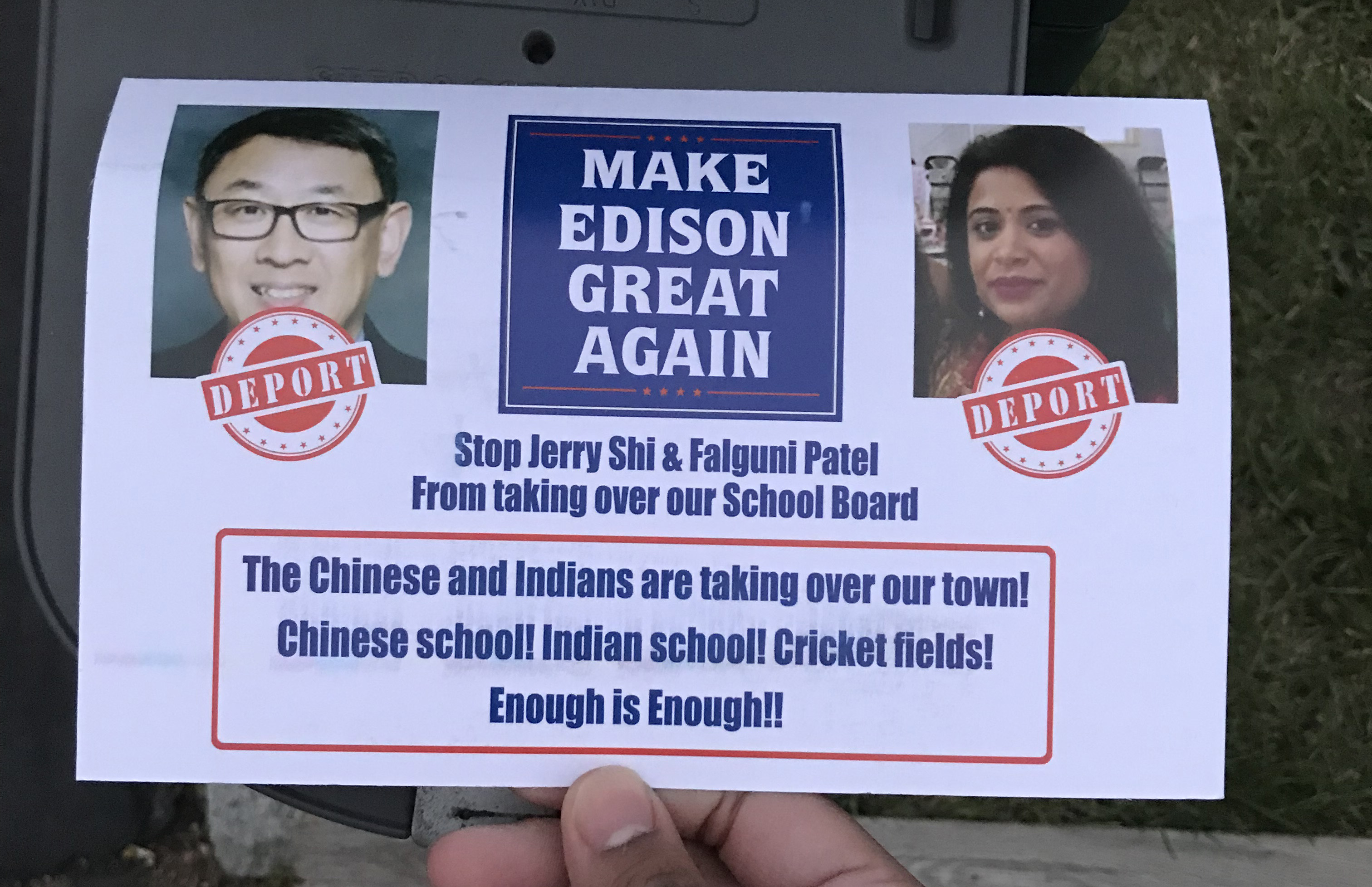 deport flyers targeting asian american candidates shock n j township