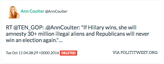 Ann Coulter retweet Russian troll