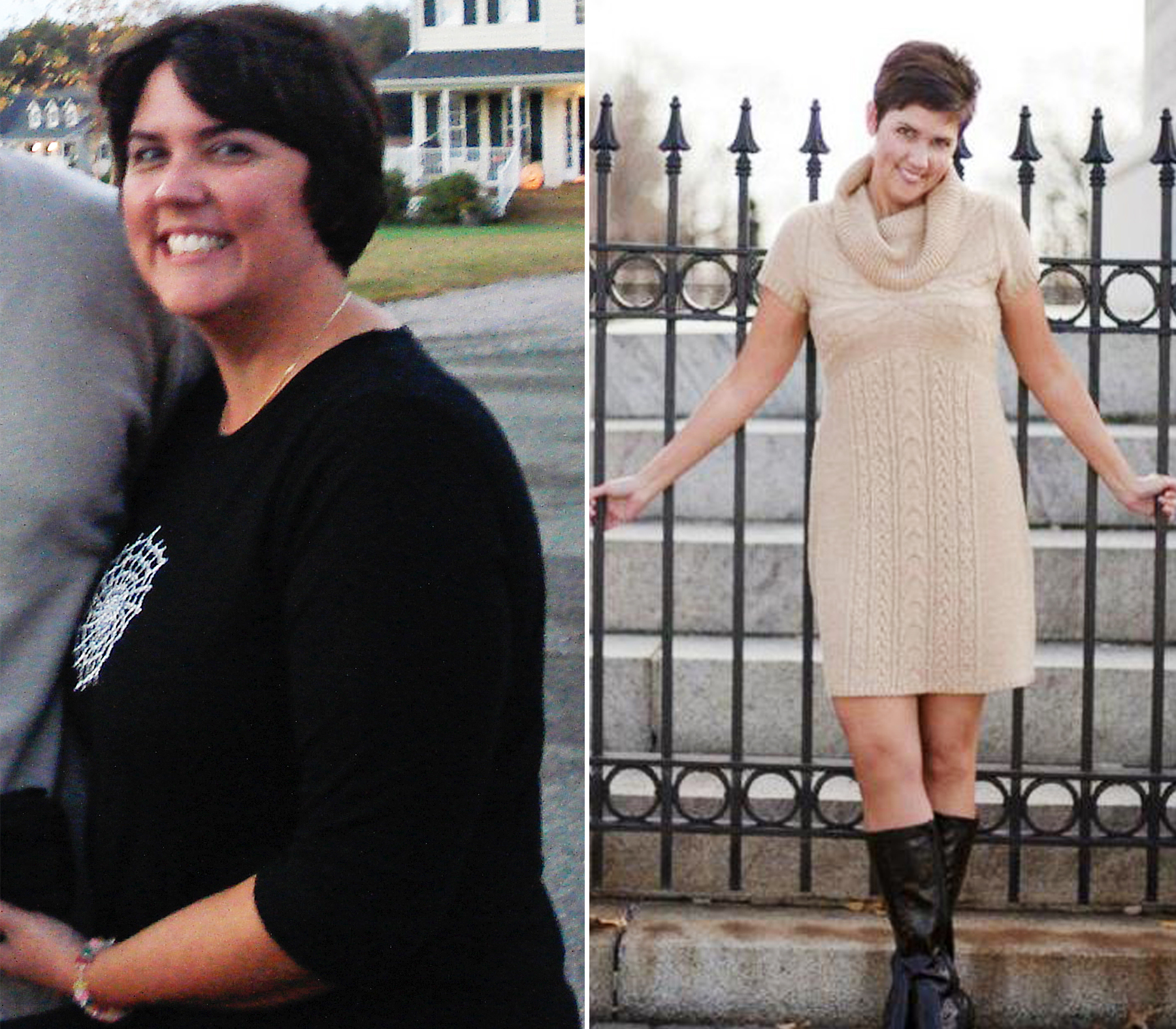 Image: before and after of Julie Stubblefield