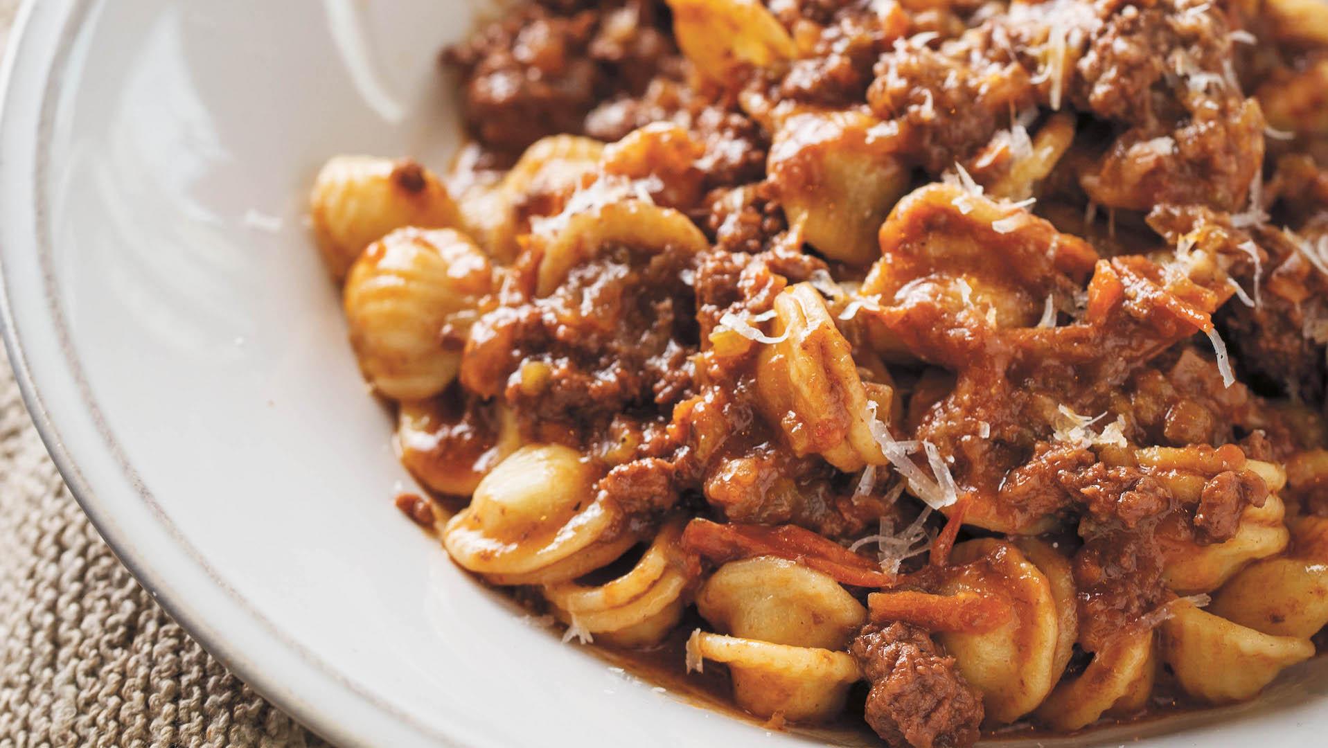 orecchiette bolognese pasta today com