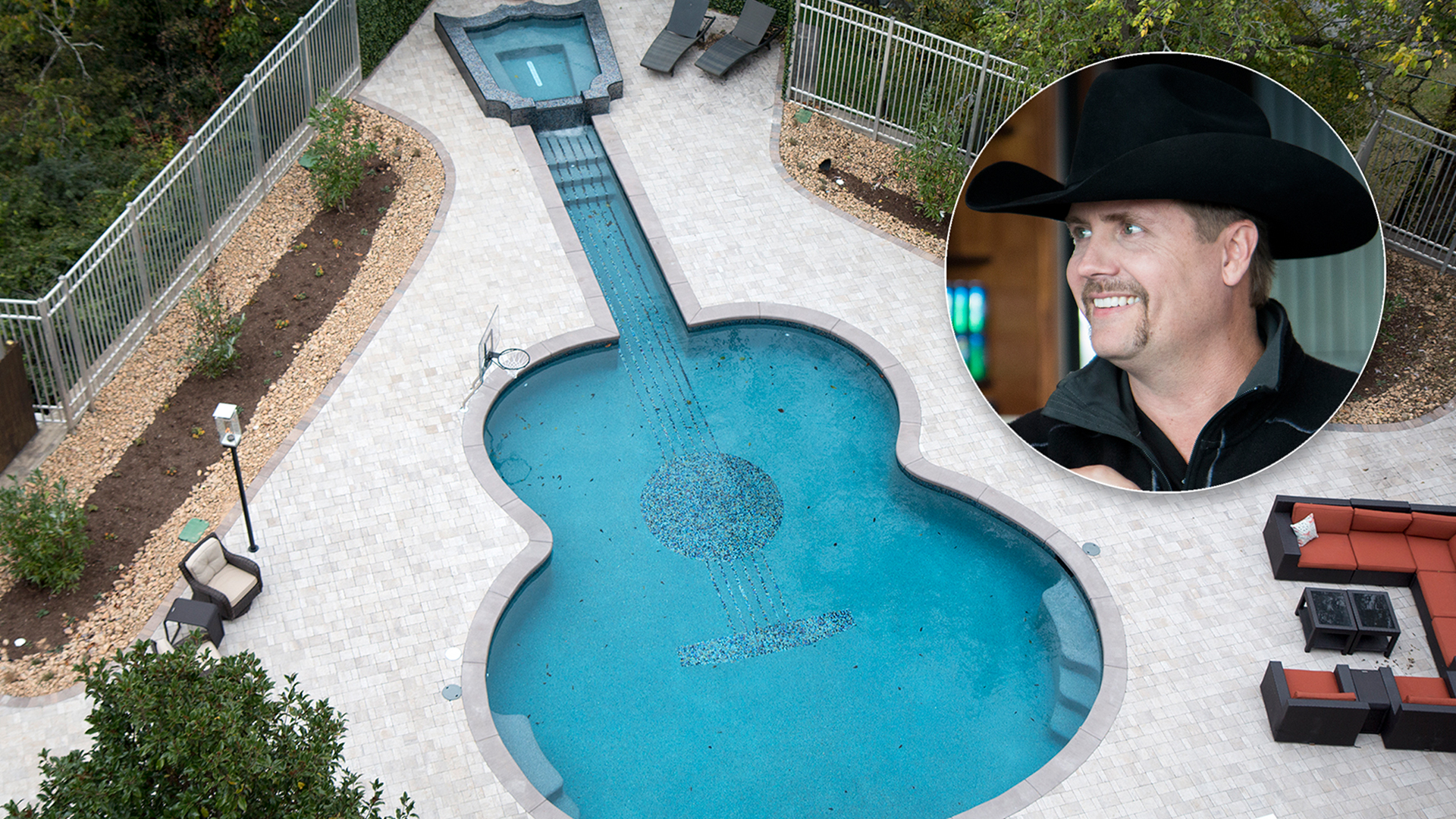 John Rich gives us a tour of his home \u2014 with a guitar-shaped pool ...