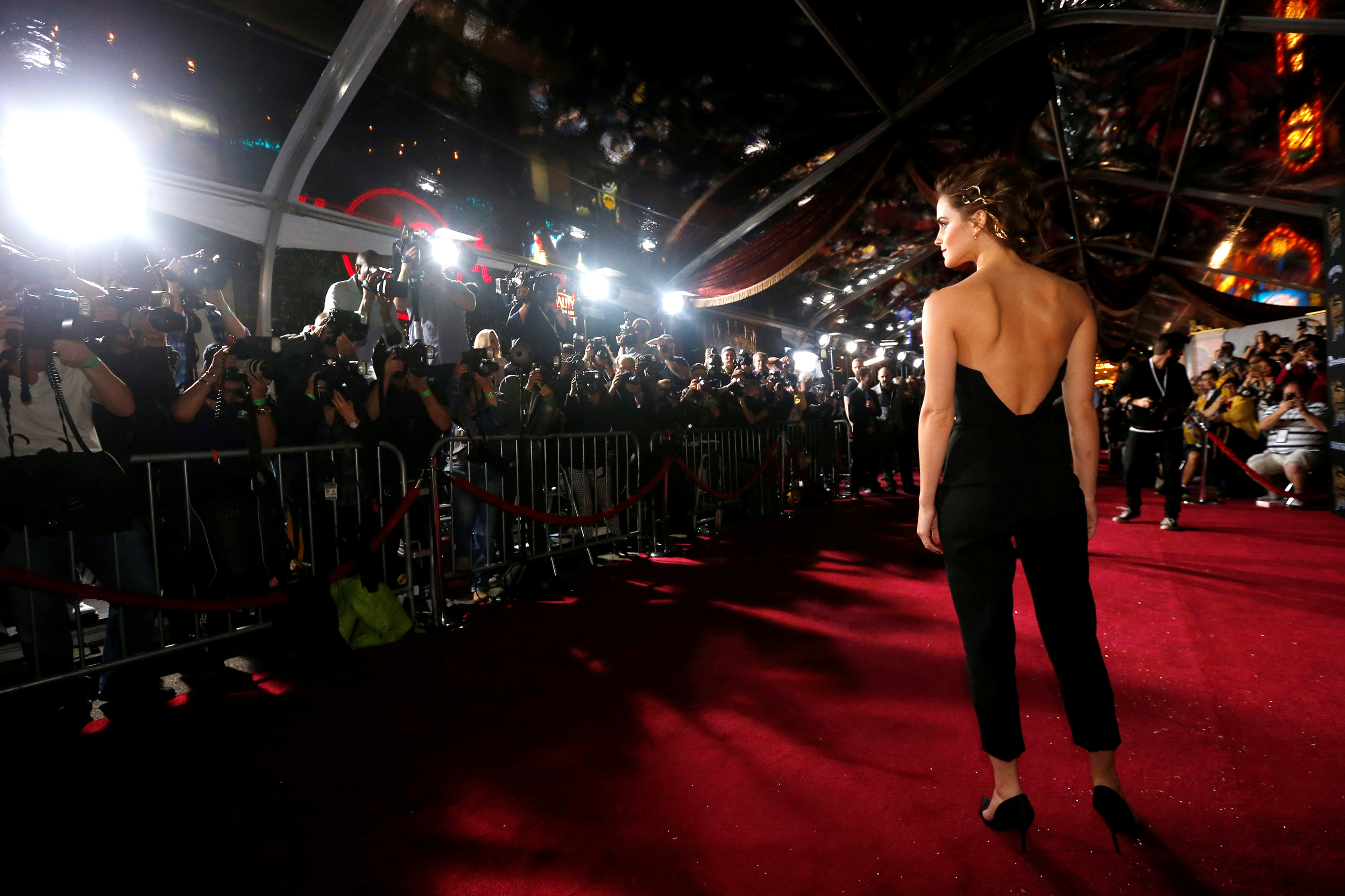 Image: Emma Watson poses at the premiere of