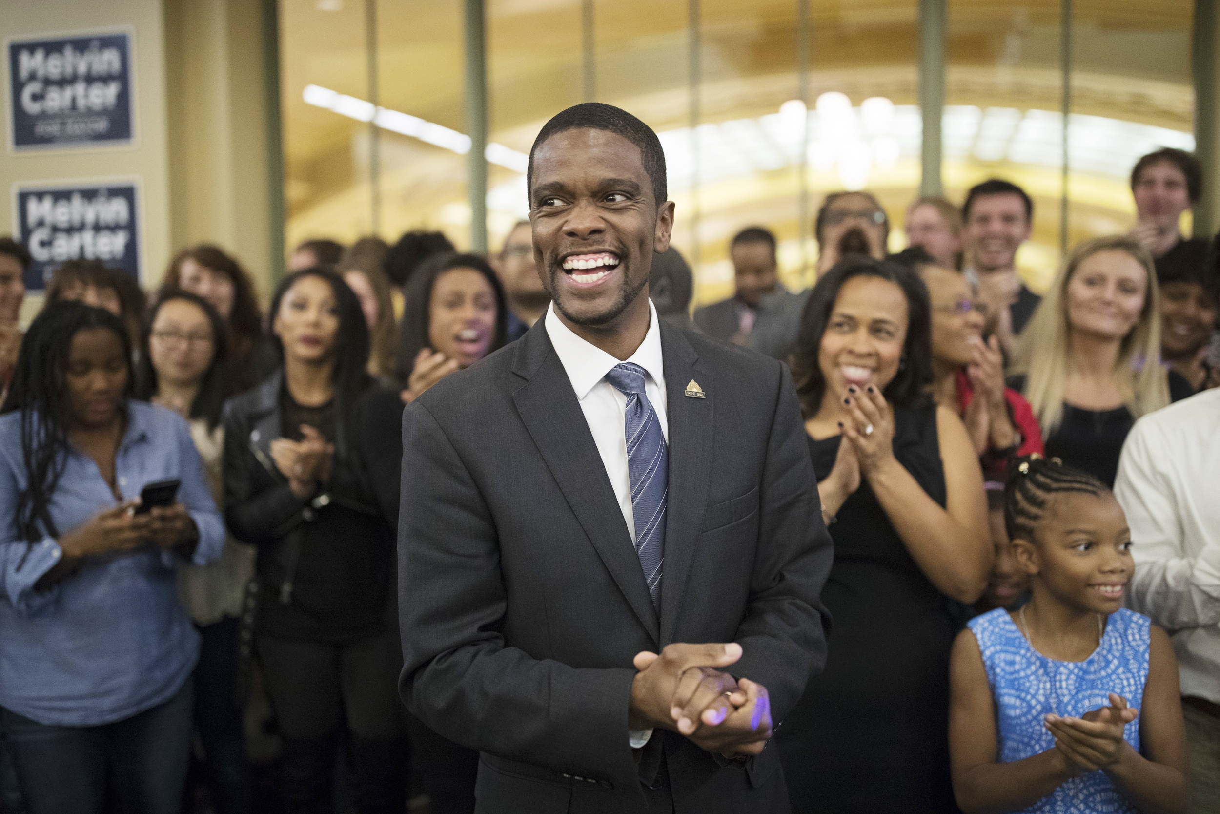 Image: St. Paul mayoral candidate Melvin Carter